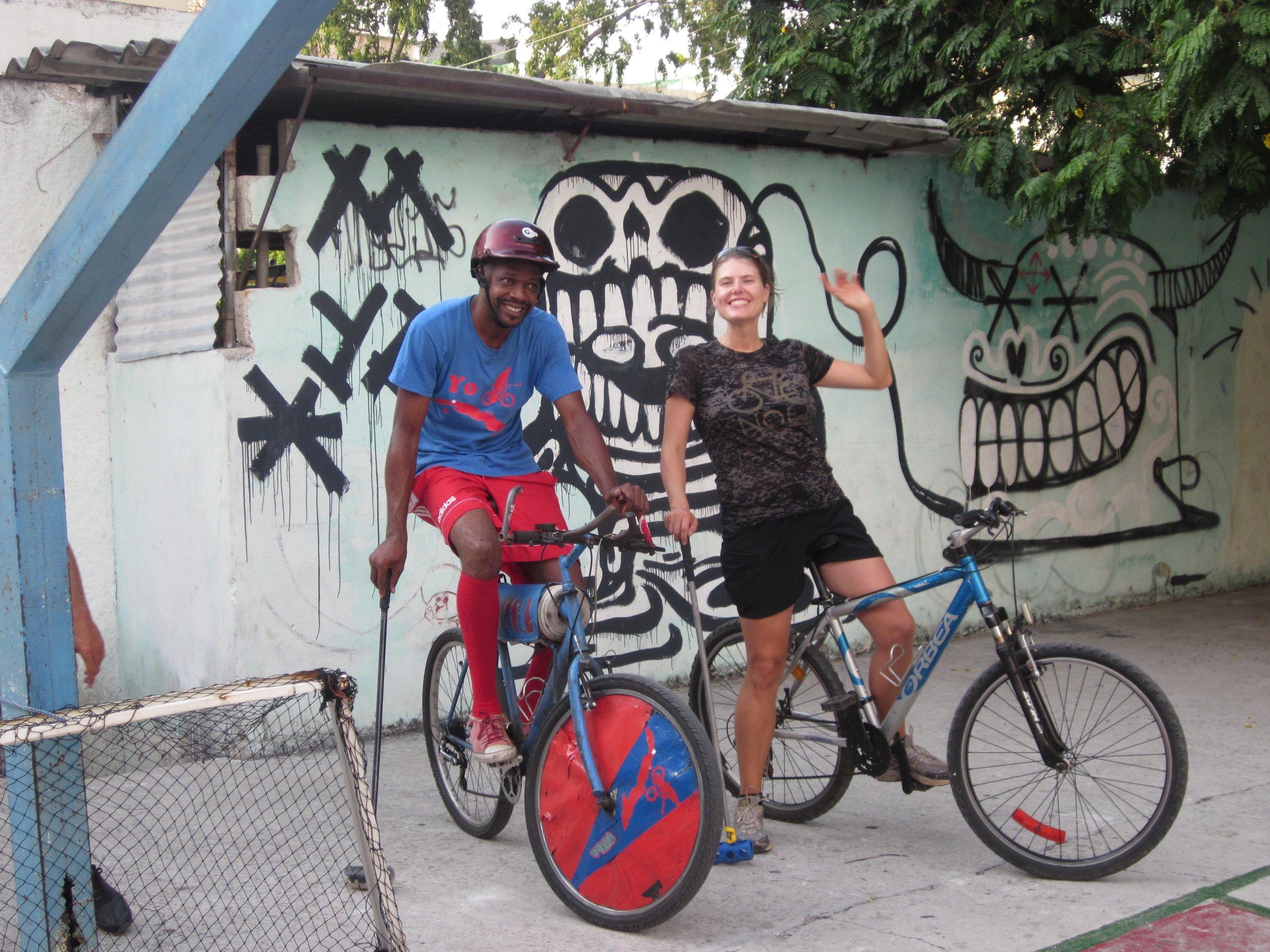 Ready for bike polo in Havana