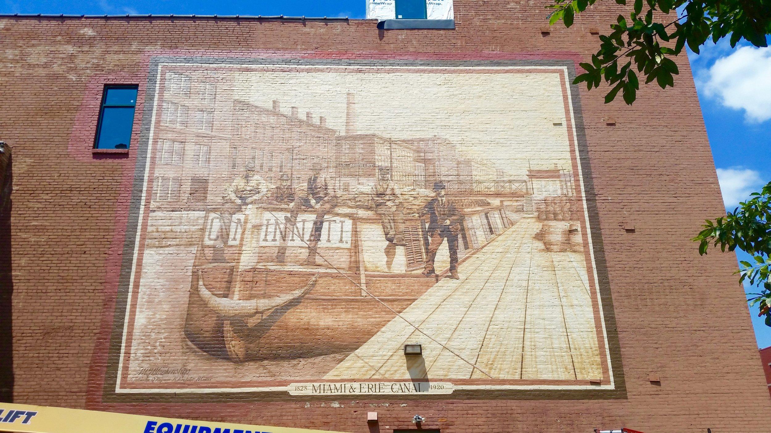 One of many beautiful murals and street art installations in Cincinnati