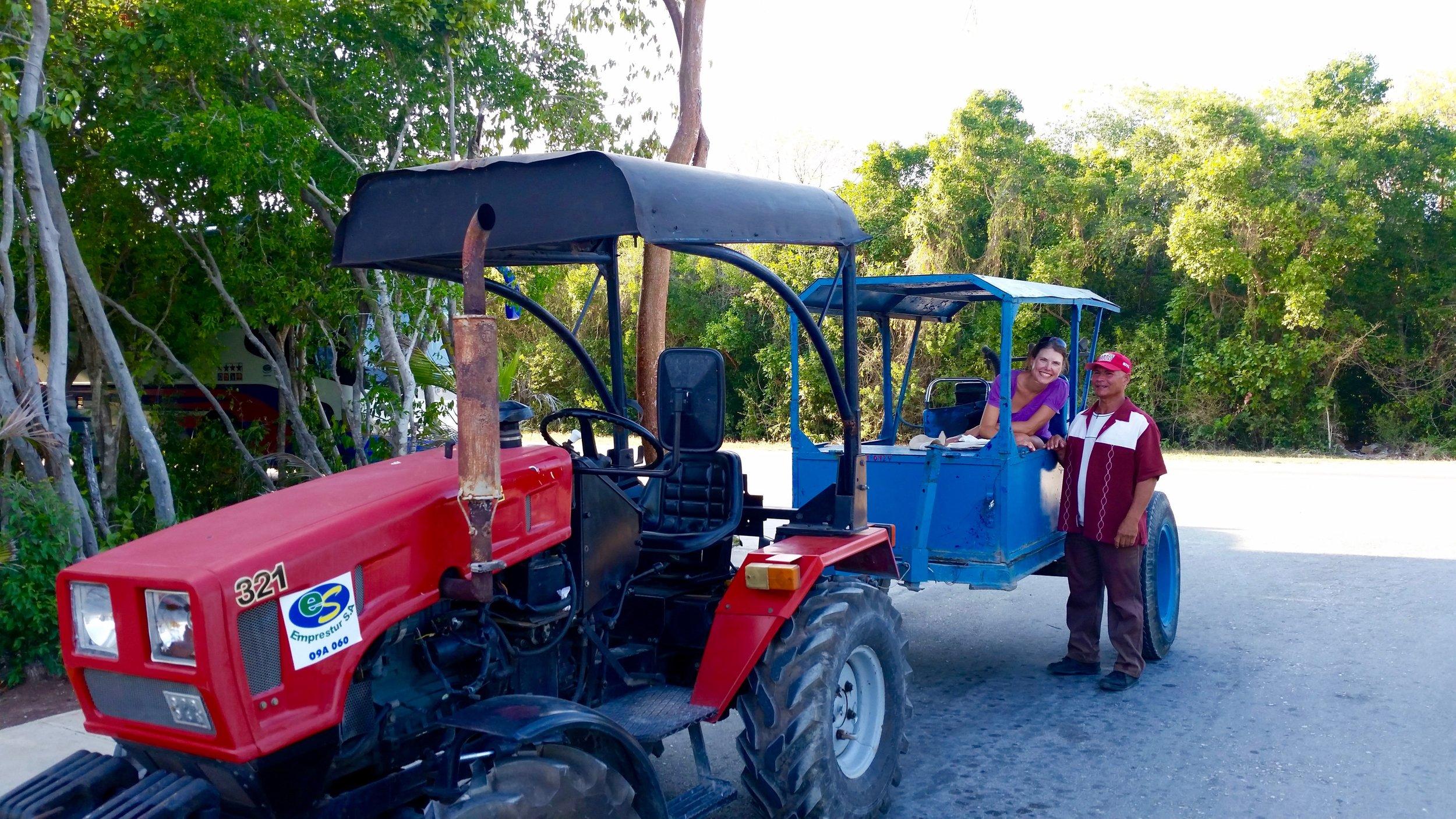 Hitching a ride in Cayo Coco, Ciego de Avila