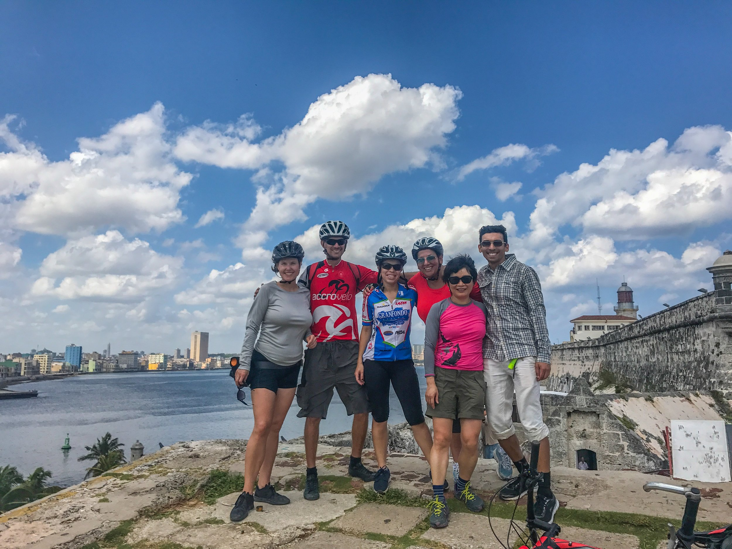 Triumphant 90 degree-day ride to the top of the Moro Castle