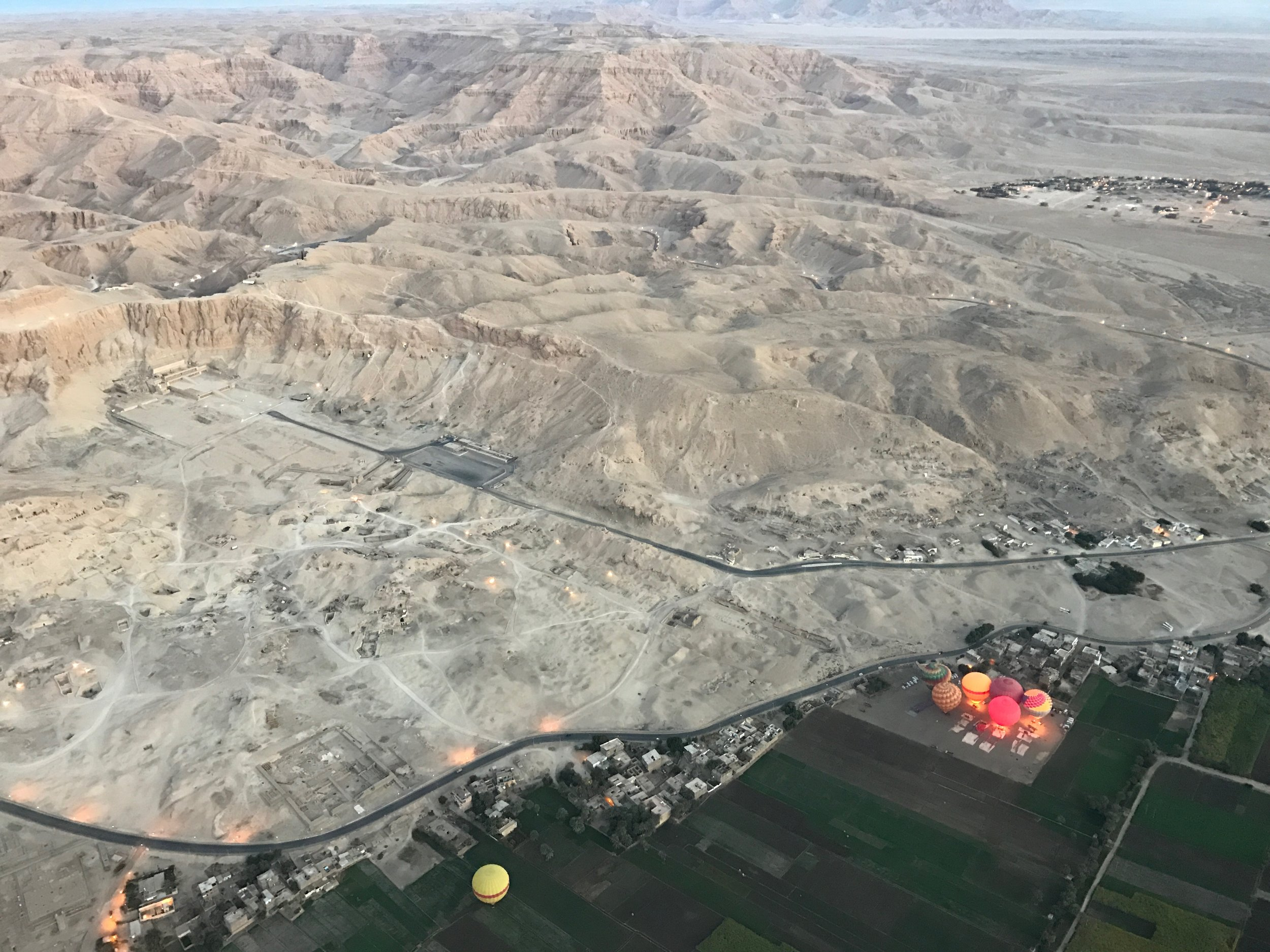 Hot air balloon ride over the Valley of the Kings