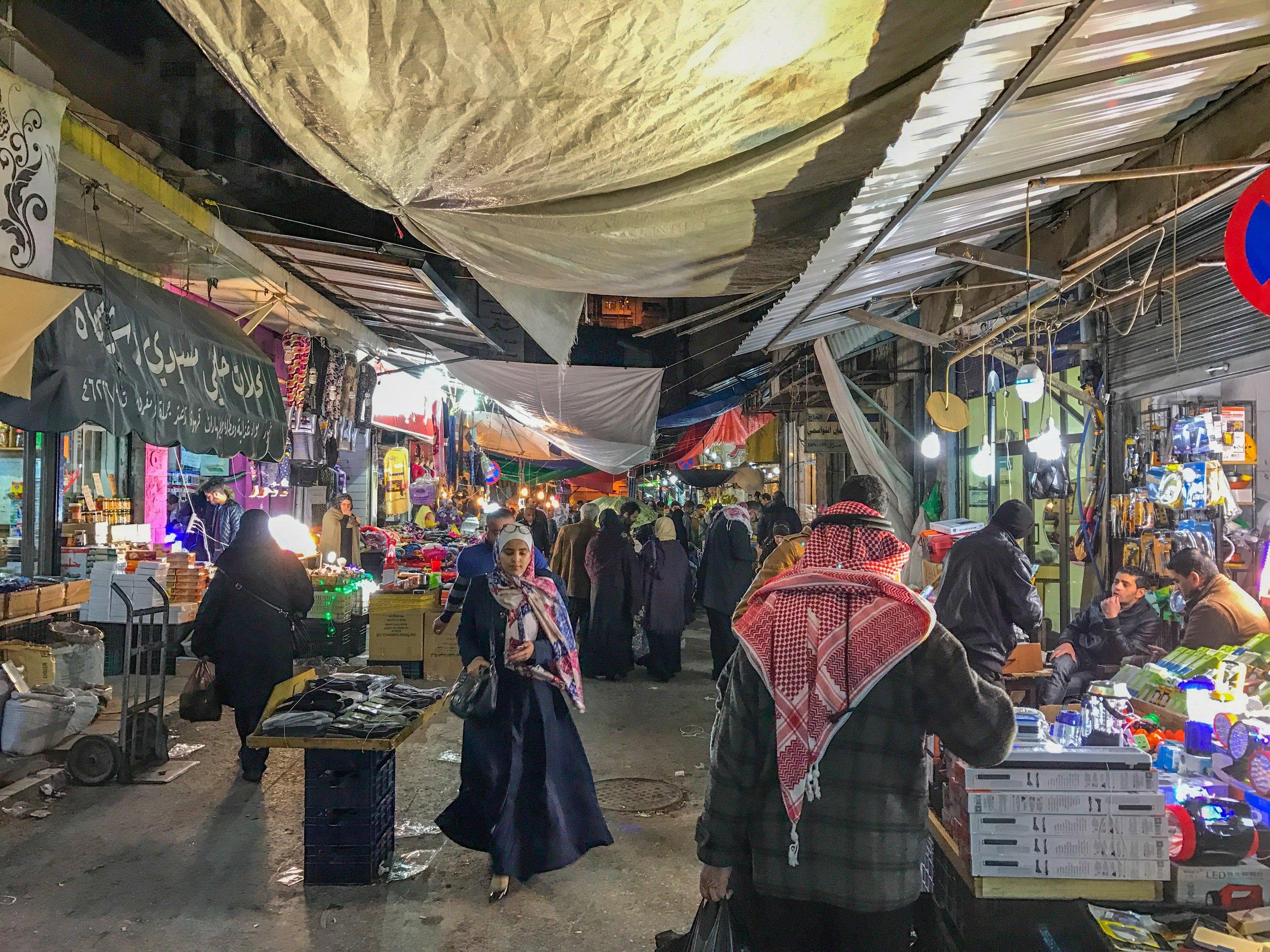 Night market in Amman