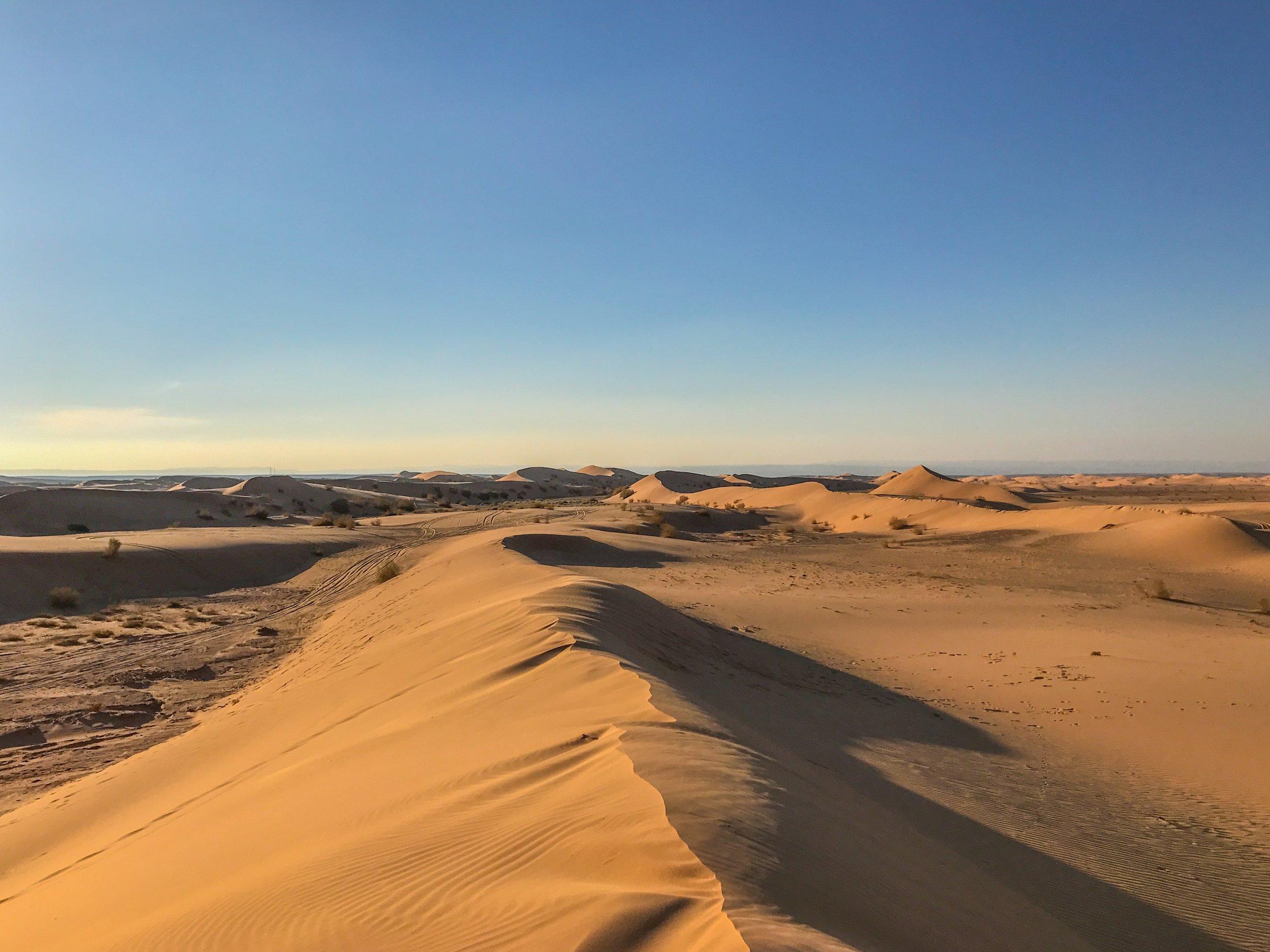 Sunset escape to Wadi Araba desert