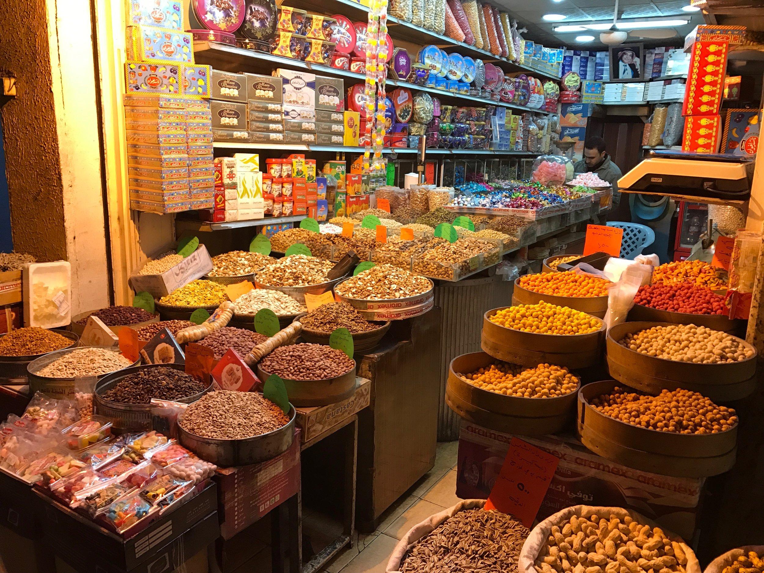 Food market in Amman