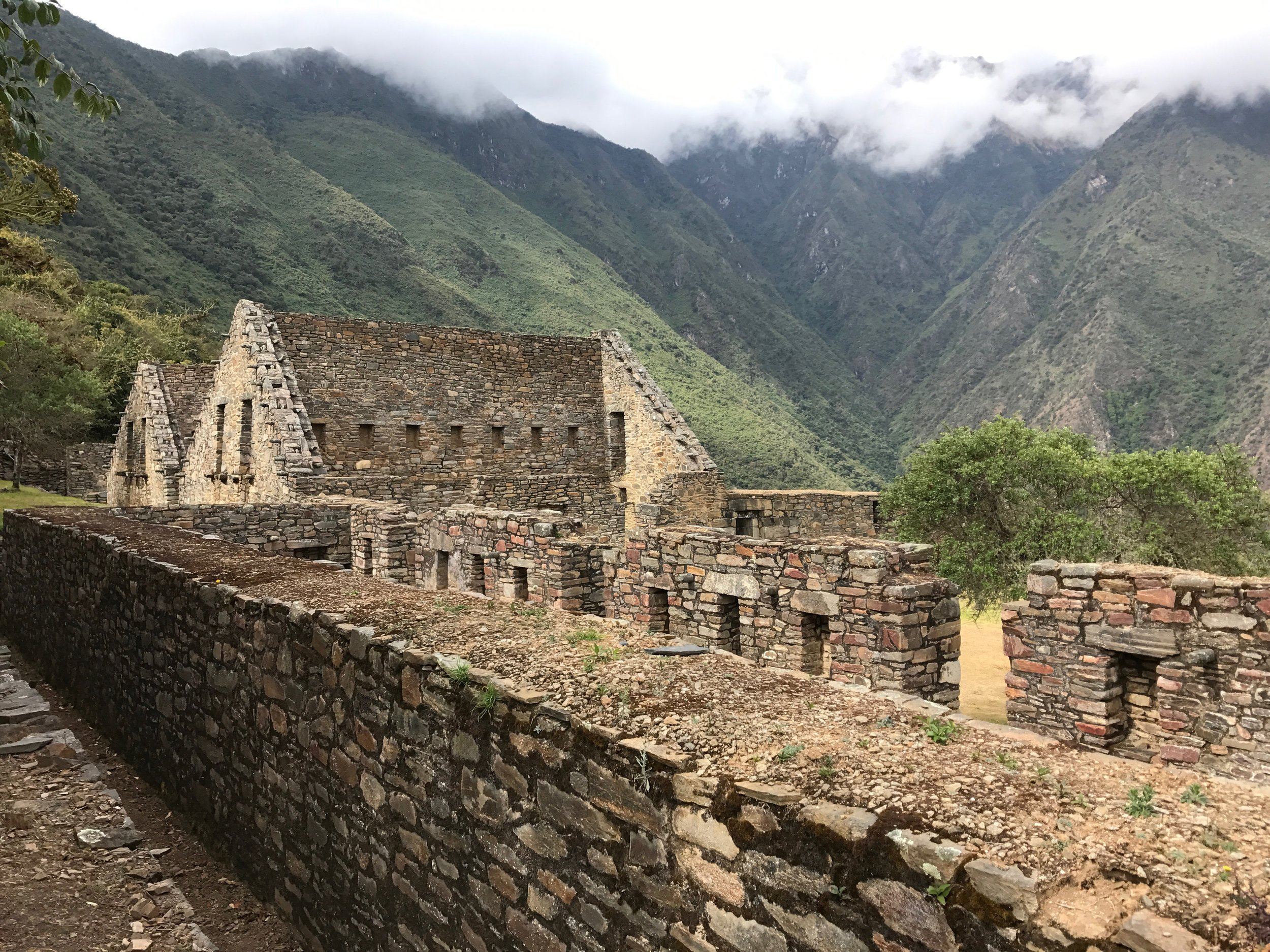 Ruins high in the Andes mountains