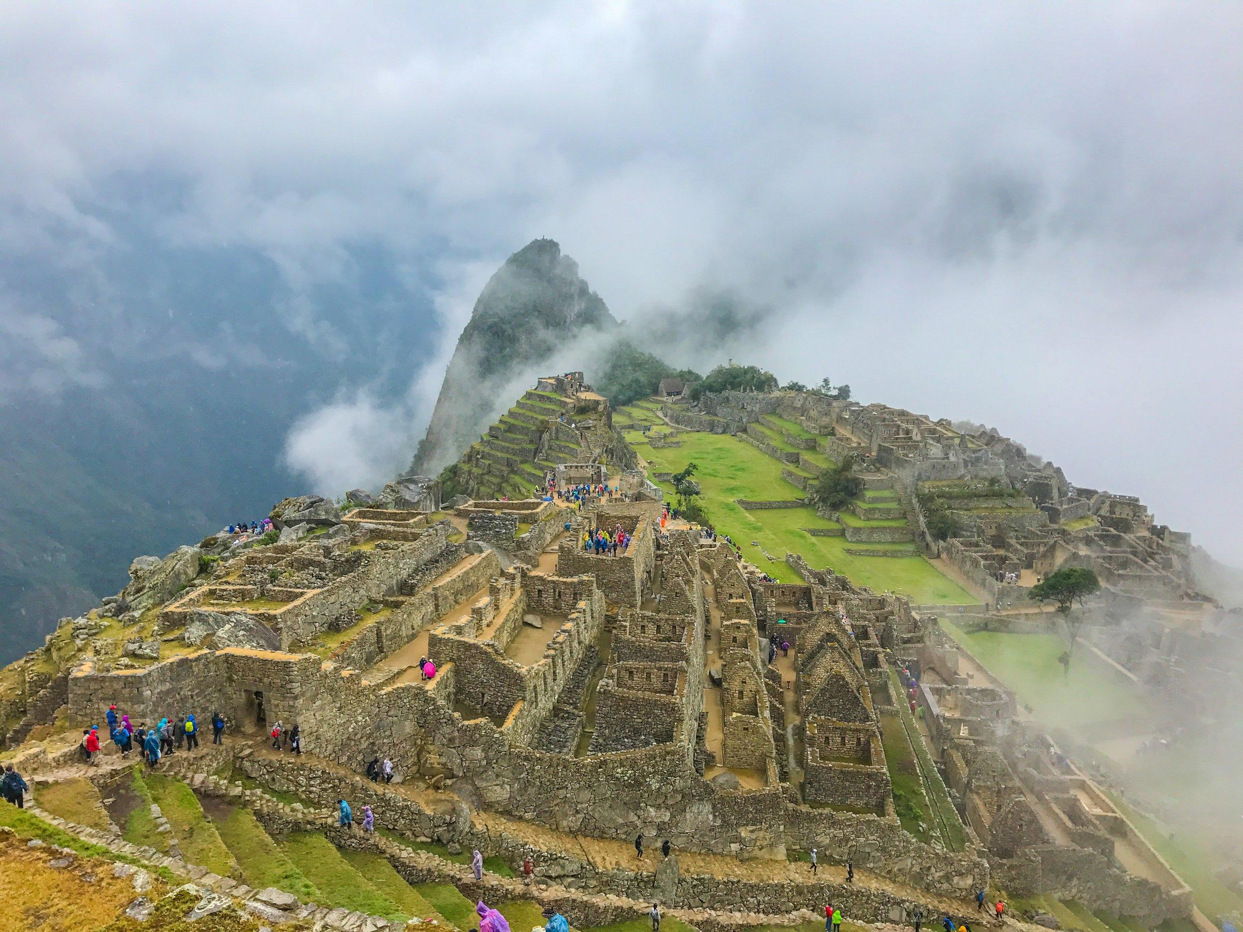 Cloudy, as usual, in Machu Picchu