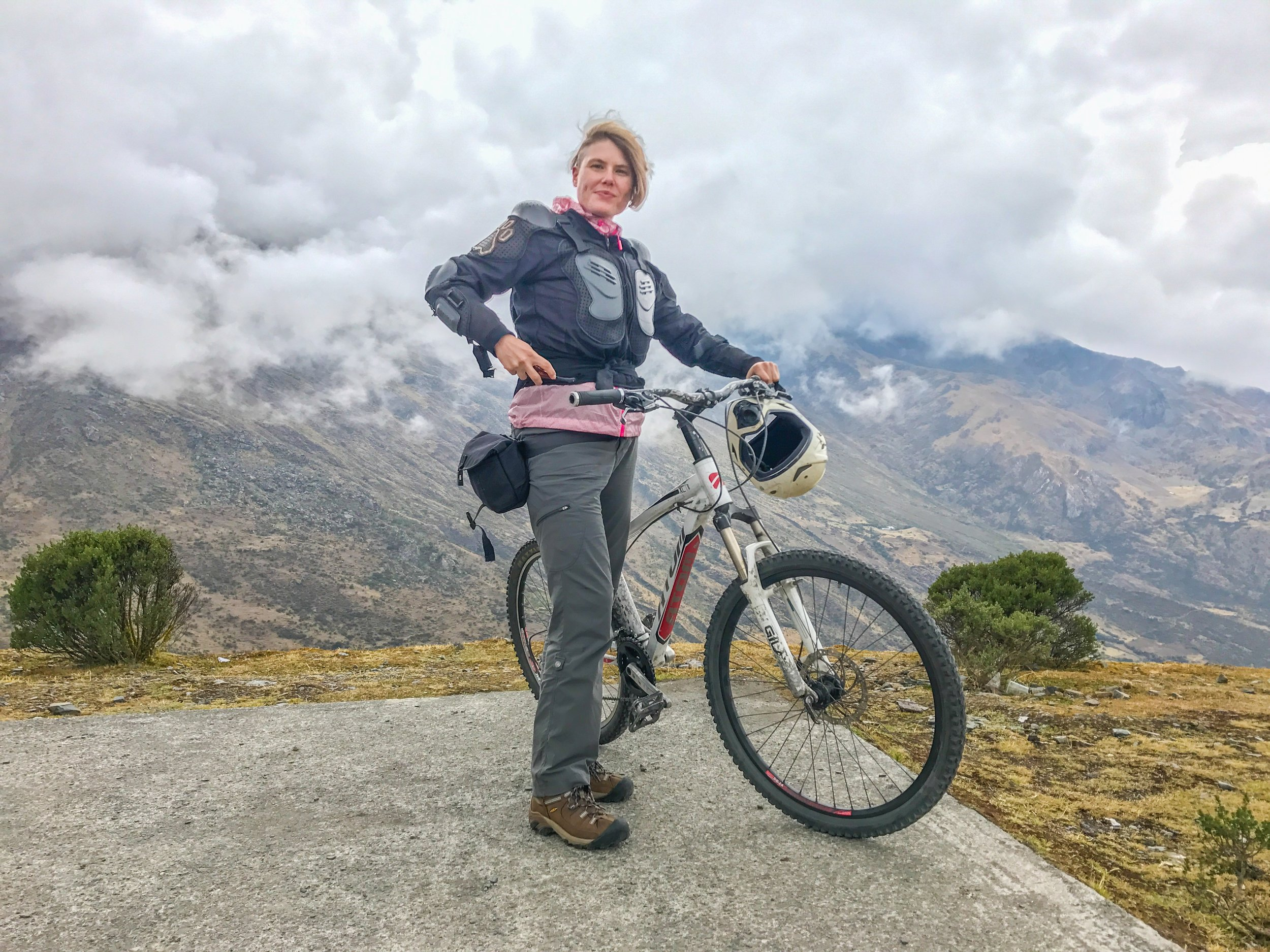 First day = 50k bike ride through Andes Mountains outside Cusco