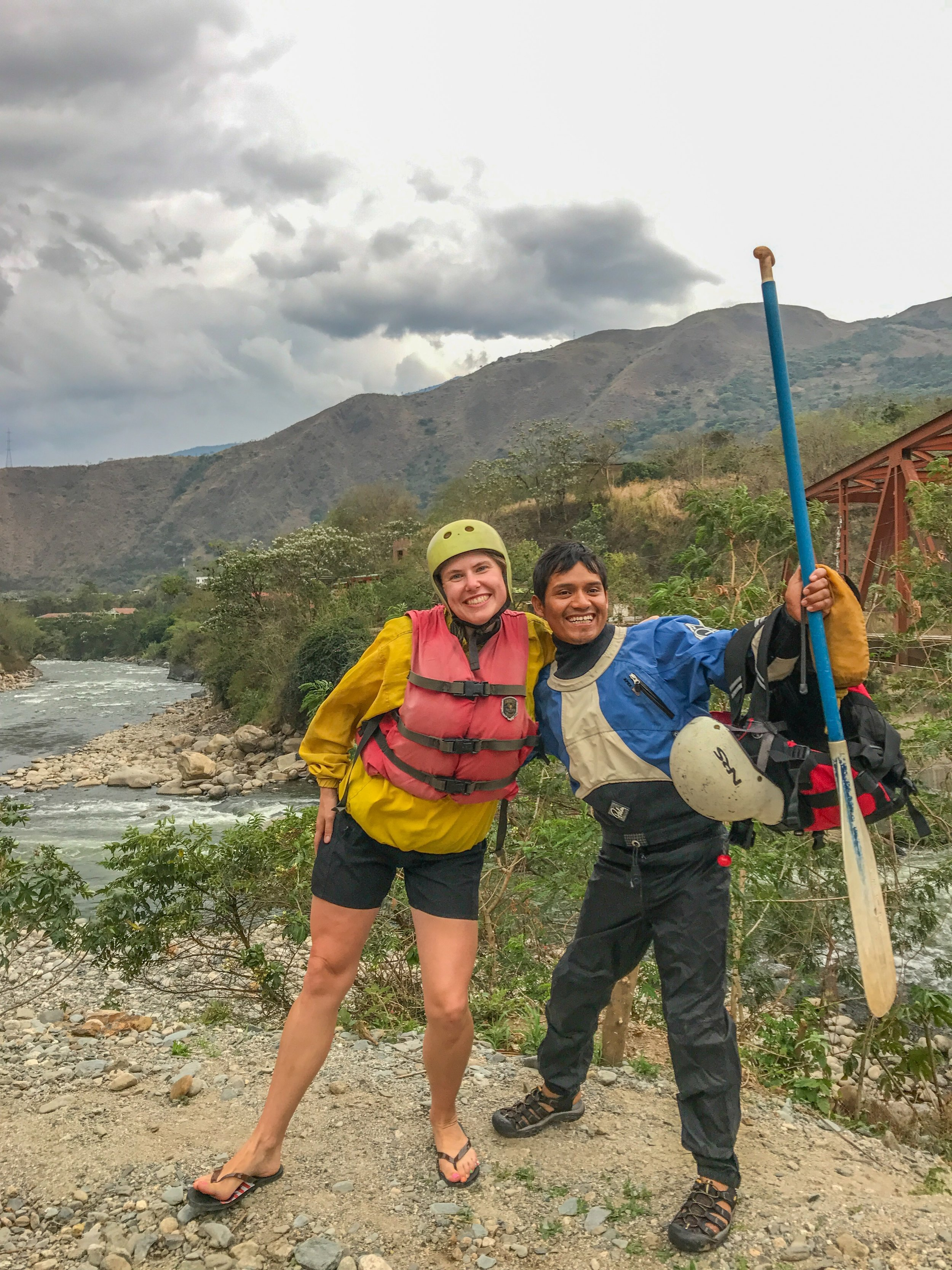 Rafting along the Urubamba River (do NOT bring a camera on the boat)