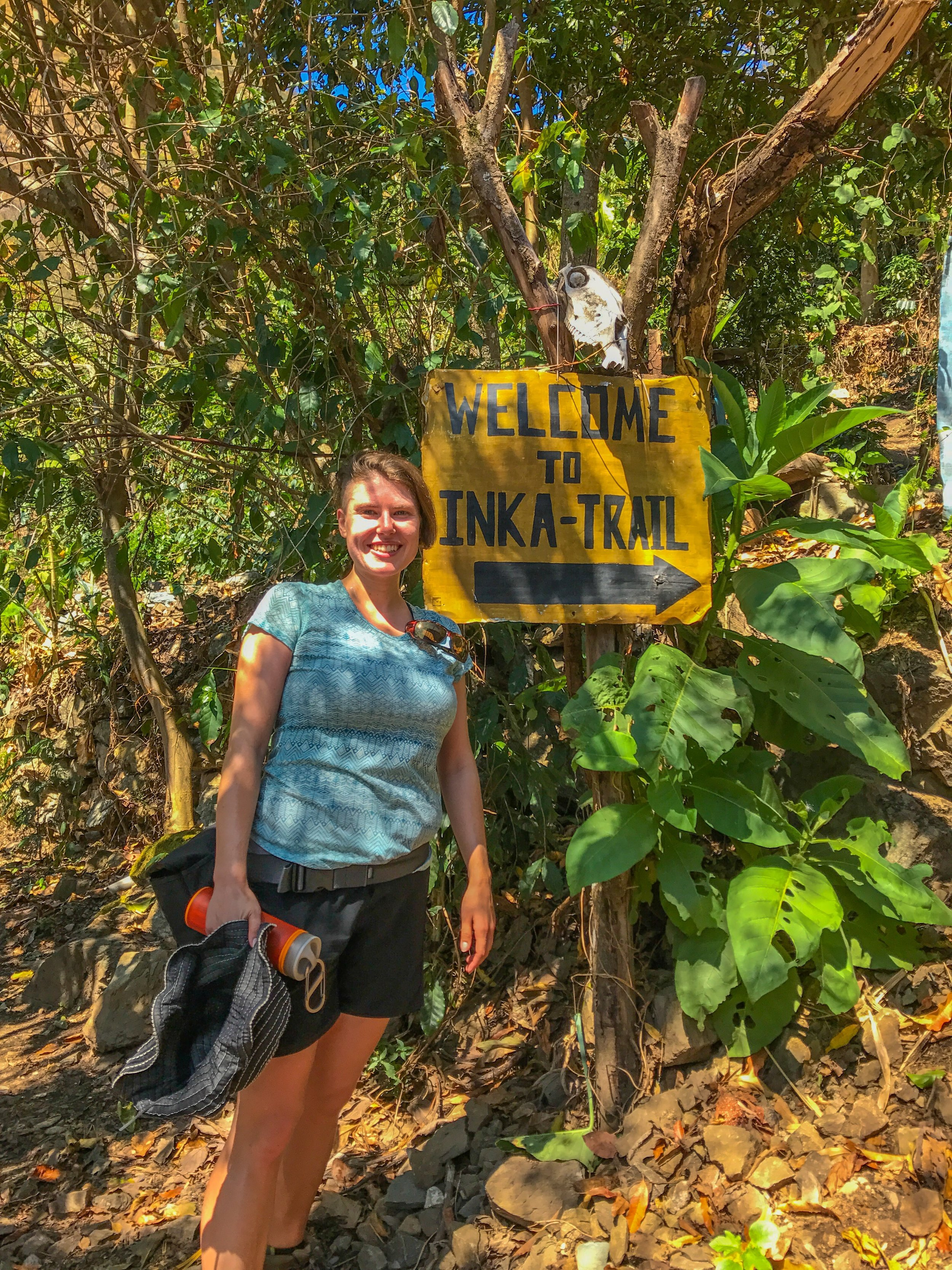 Joined part of the original Inka Trail during our trip