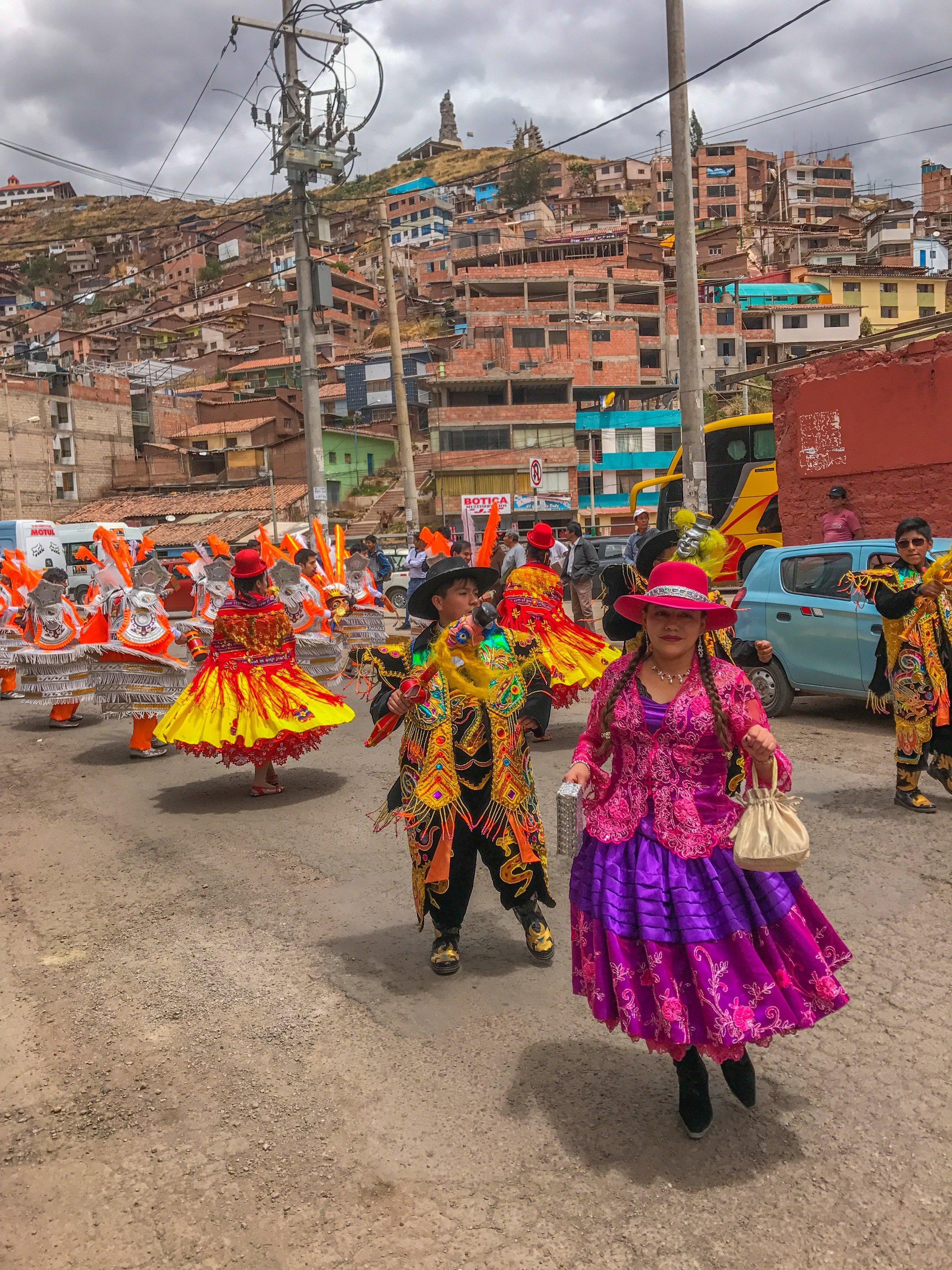 Parade through Cusco
