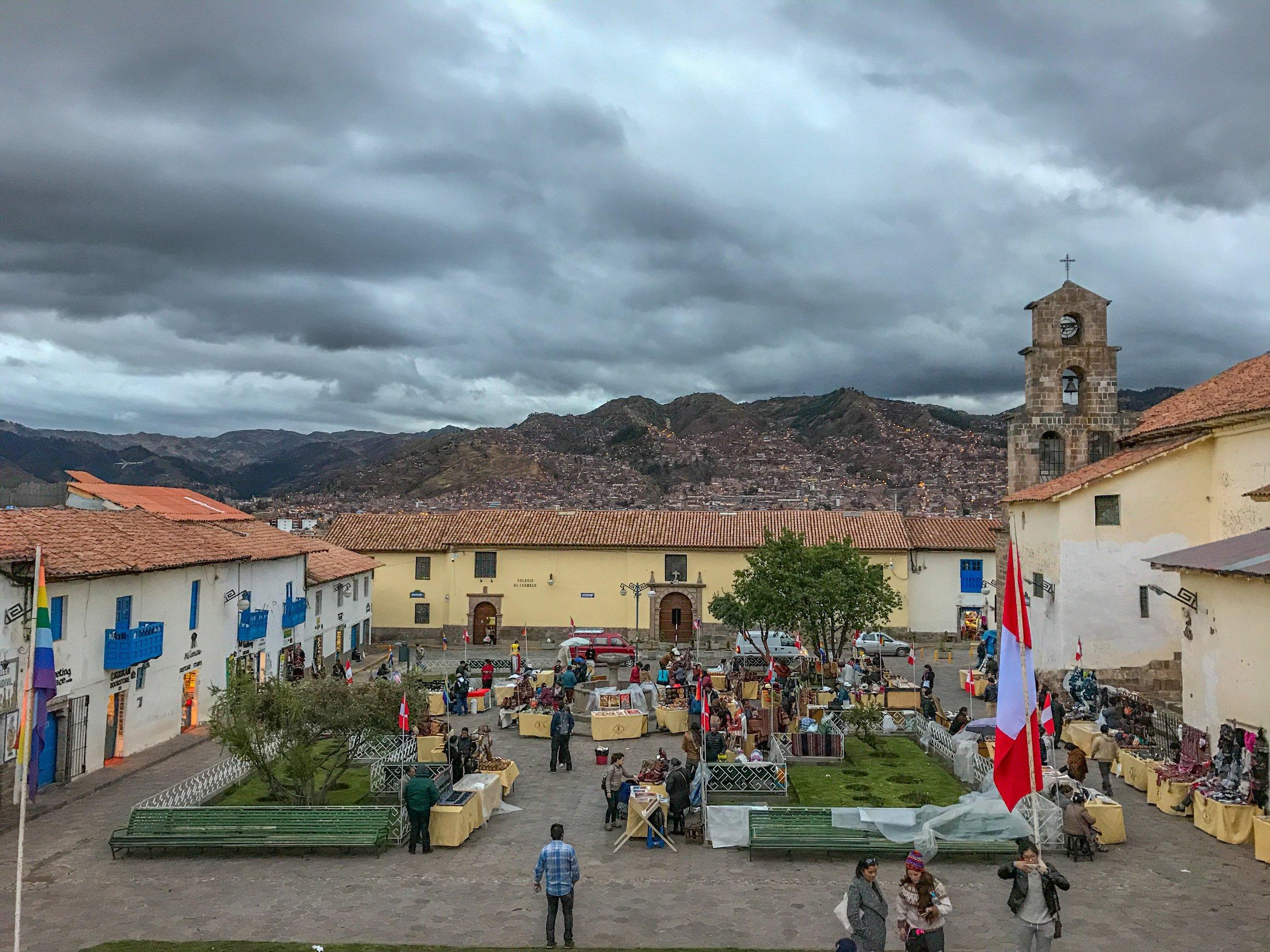 San Blas Plaza in central Cusco