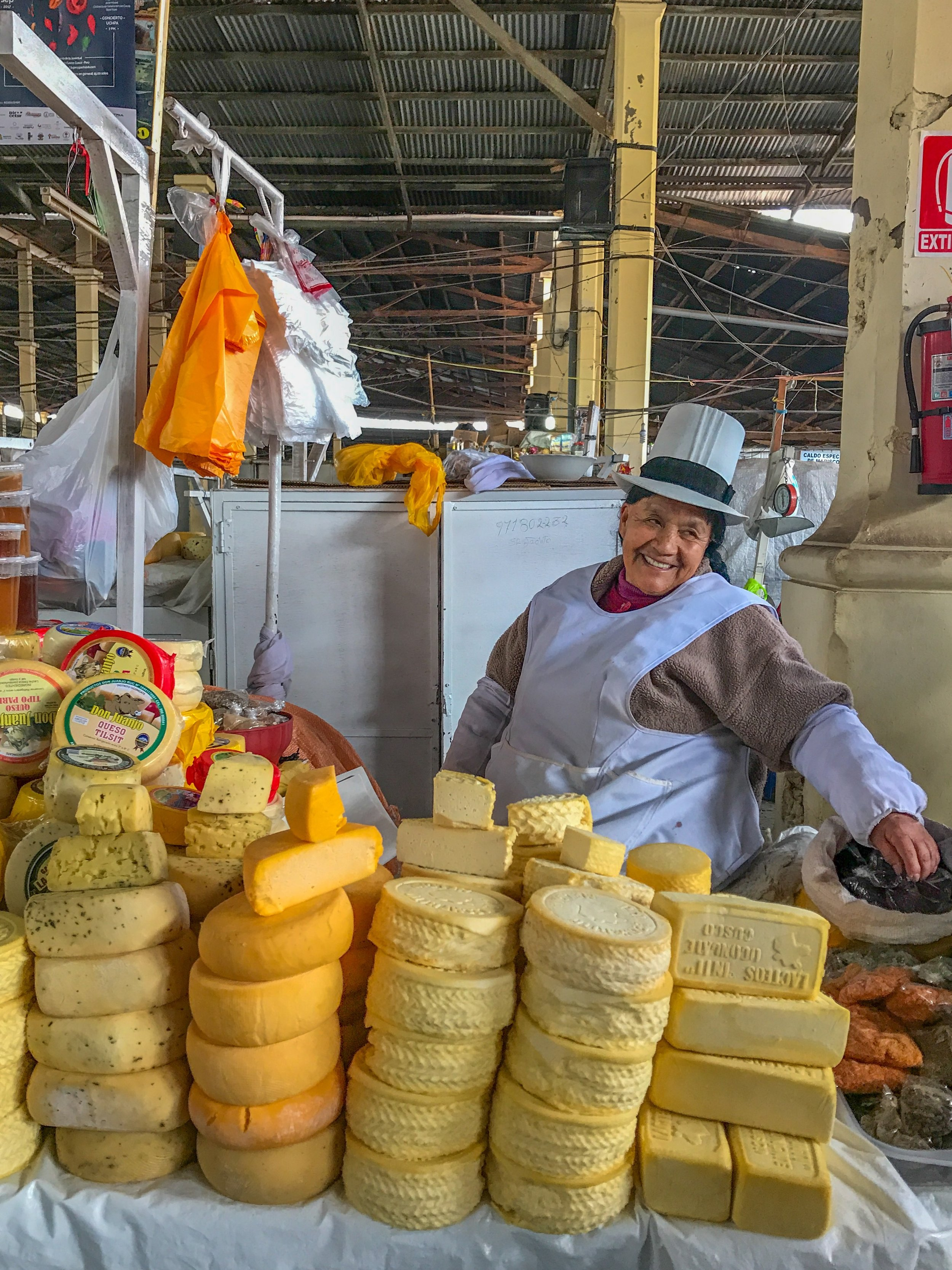 One of San Pedro's many cheese vendors