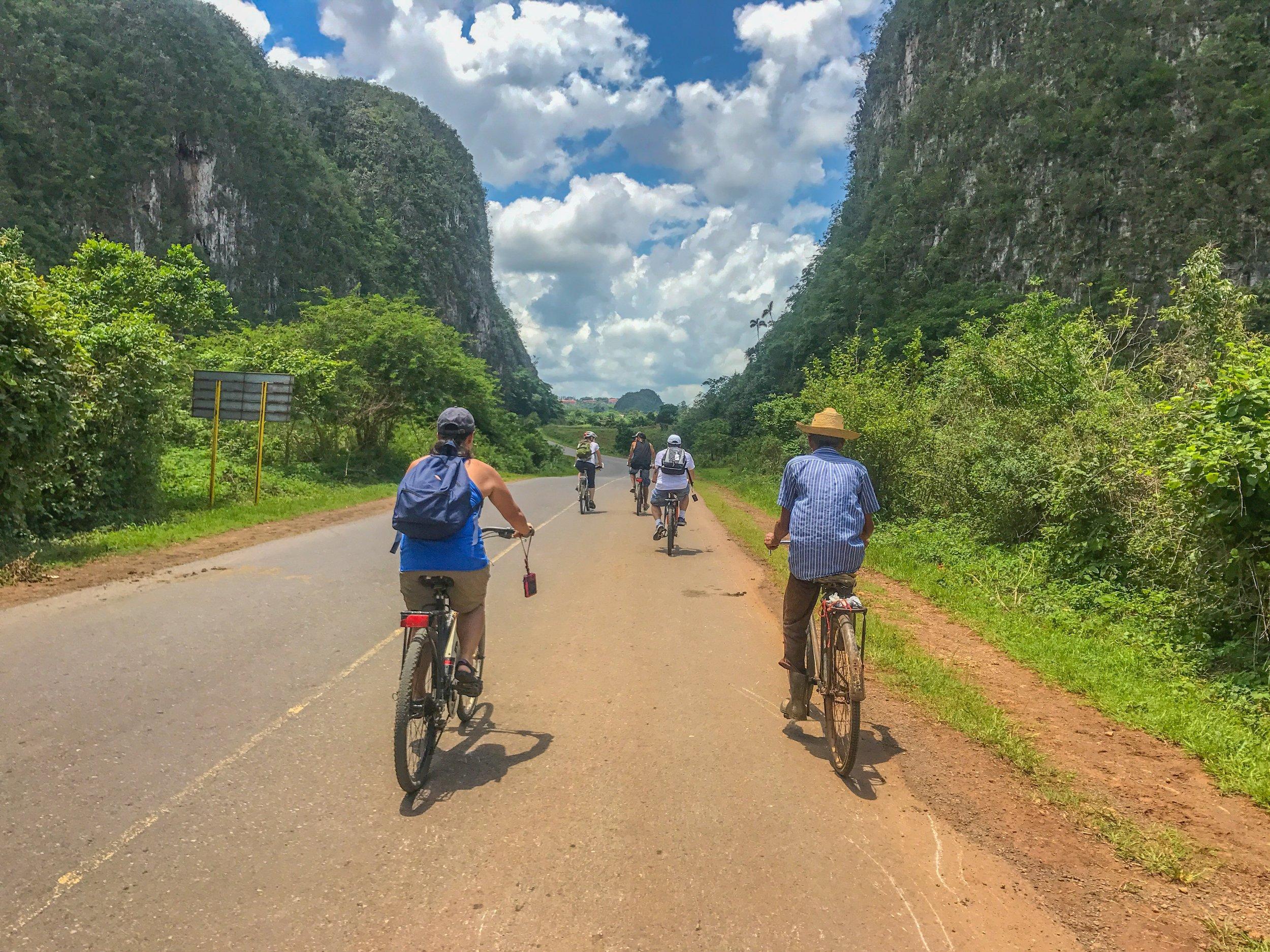 Biking in Viñales Valley