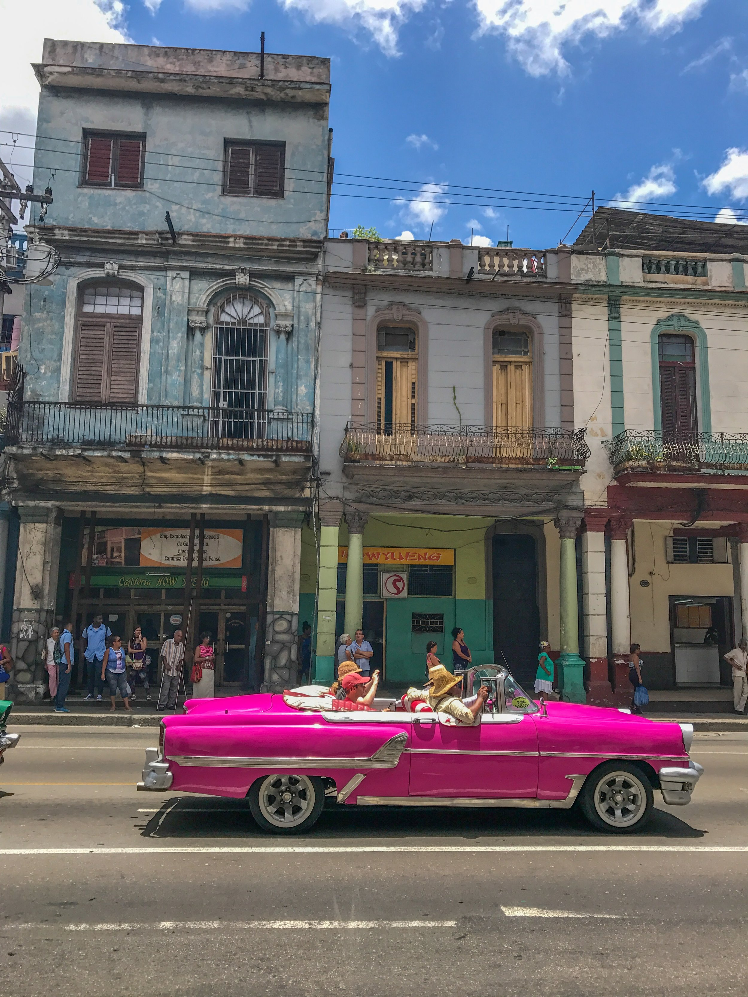 A Cuban classic car in Central Havana