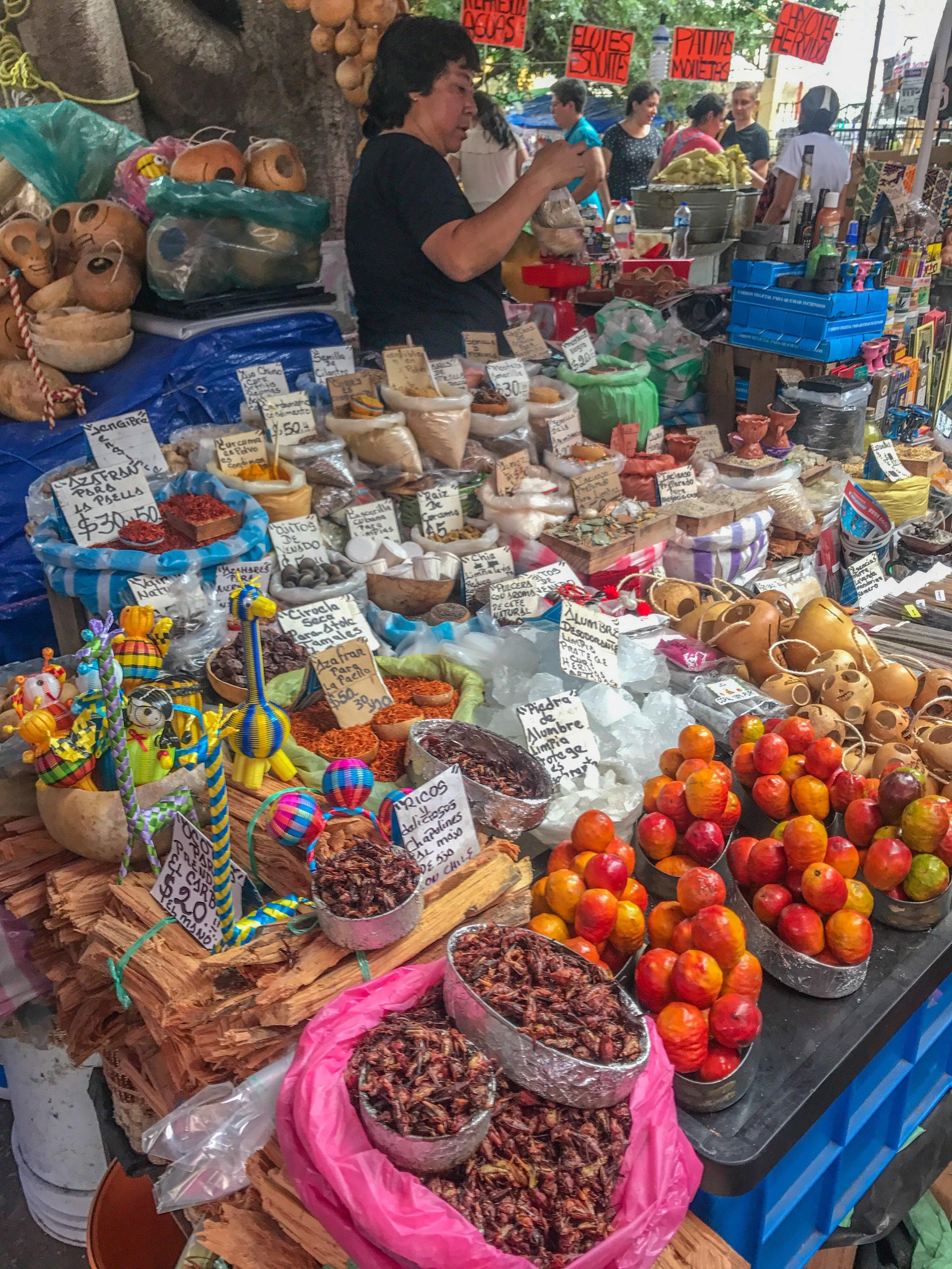 Mexico City market tour