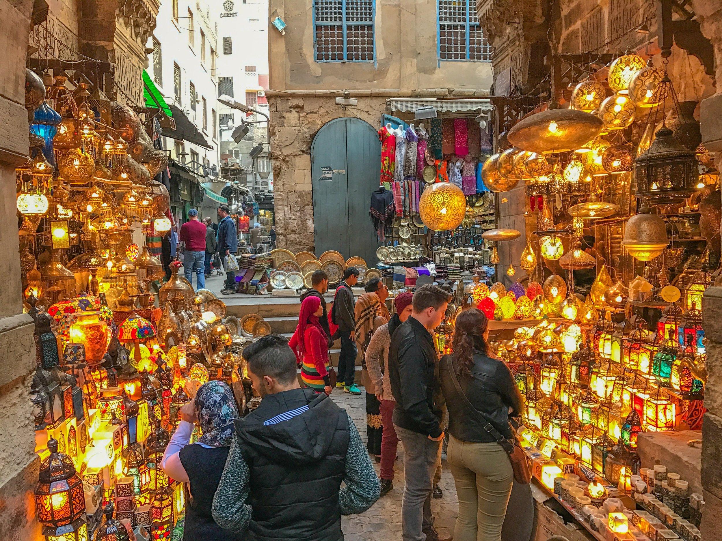 Khan al Khalili lights vendor