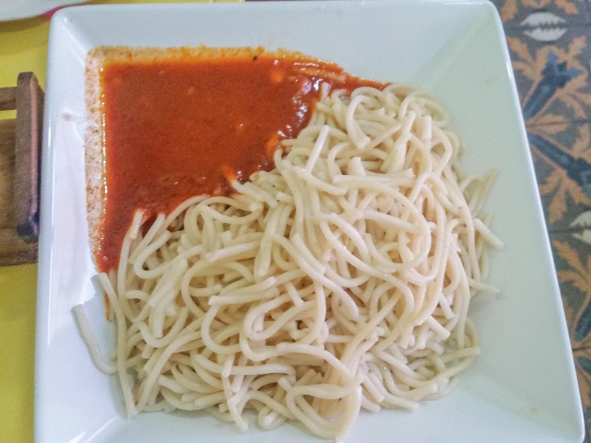 More Cuban spaghetti