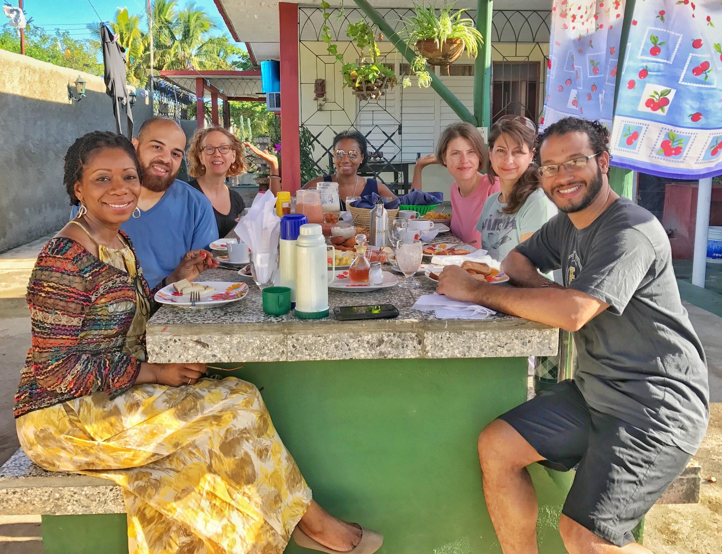Vegan-friendly breakfast at a Bay of Pigs casa