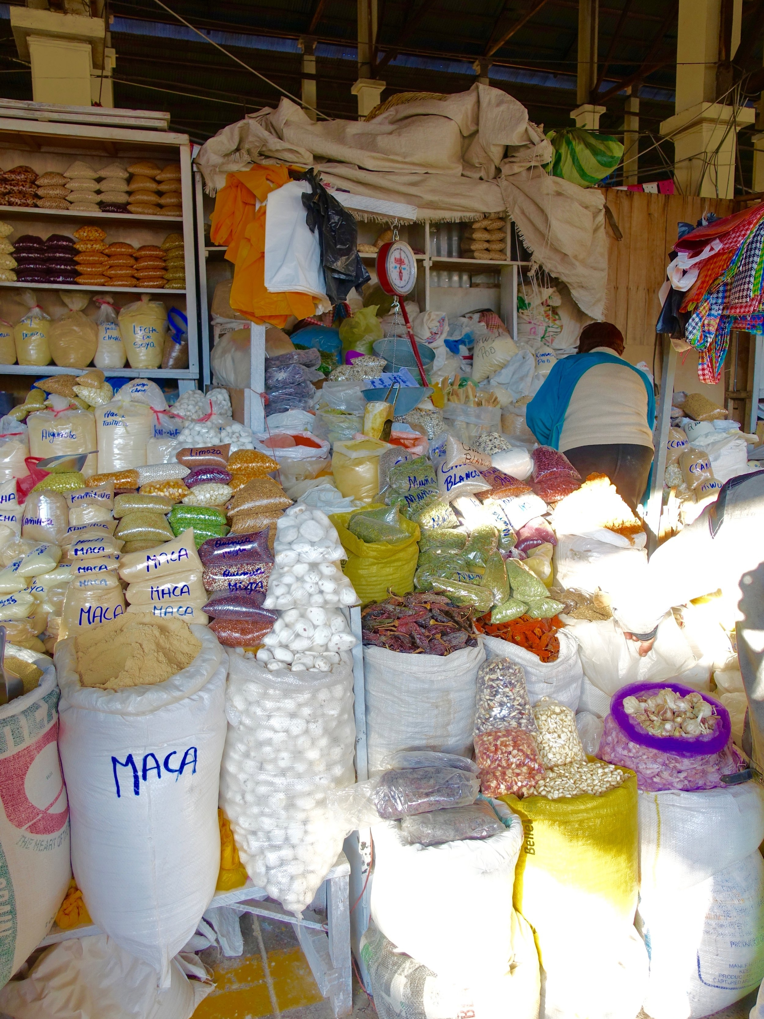 EVERYTHING is for sale in Cusco's San Pedro market