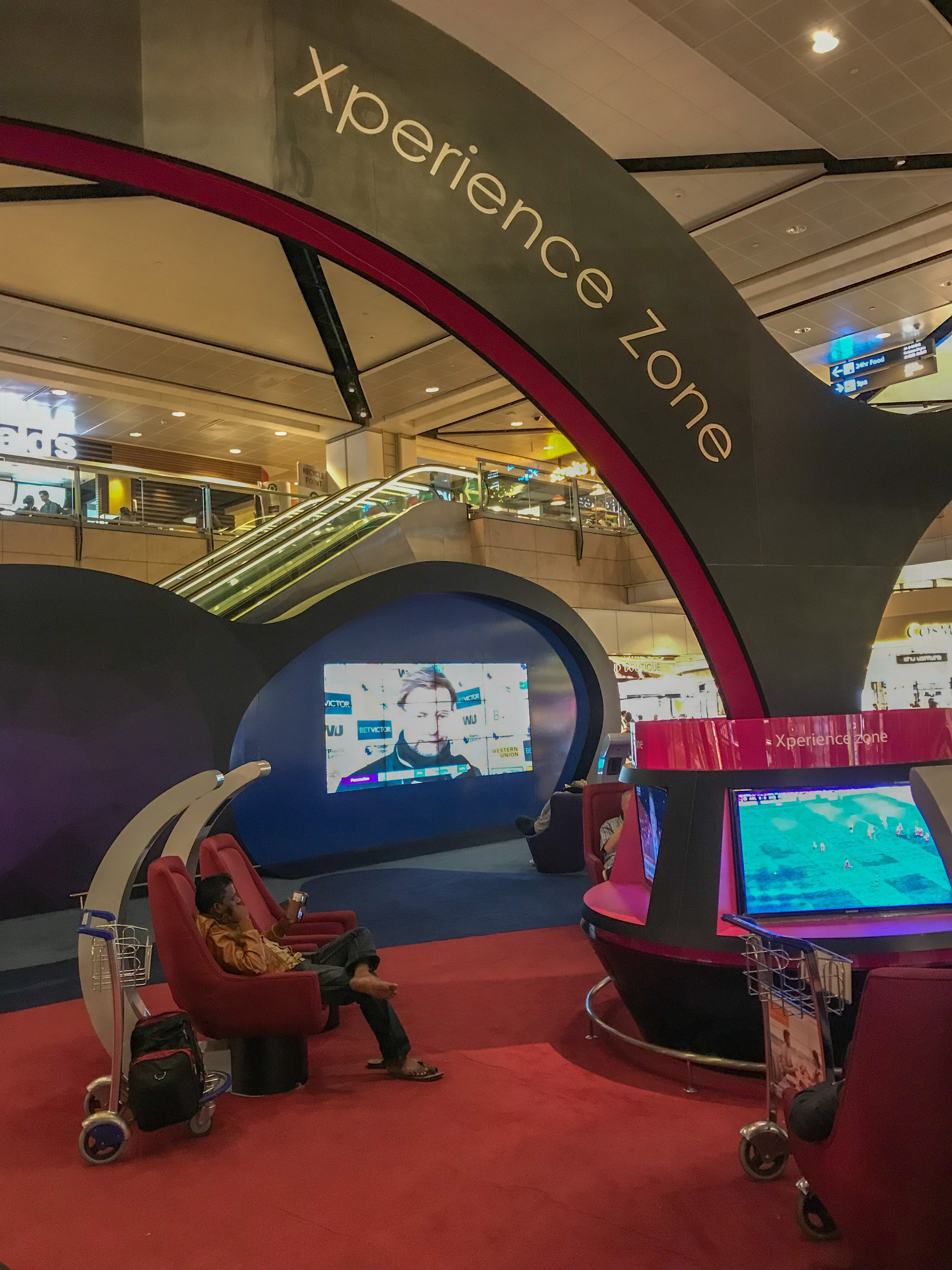 One of Changi's entertainment pavilions