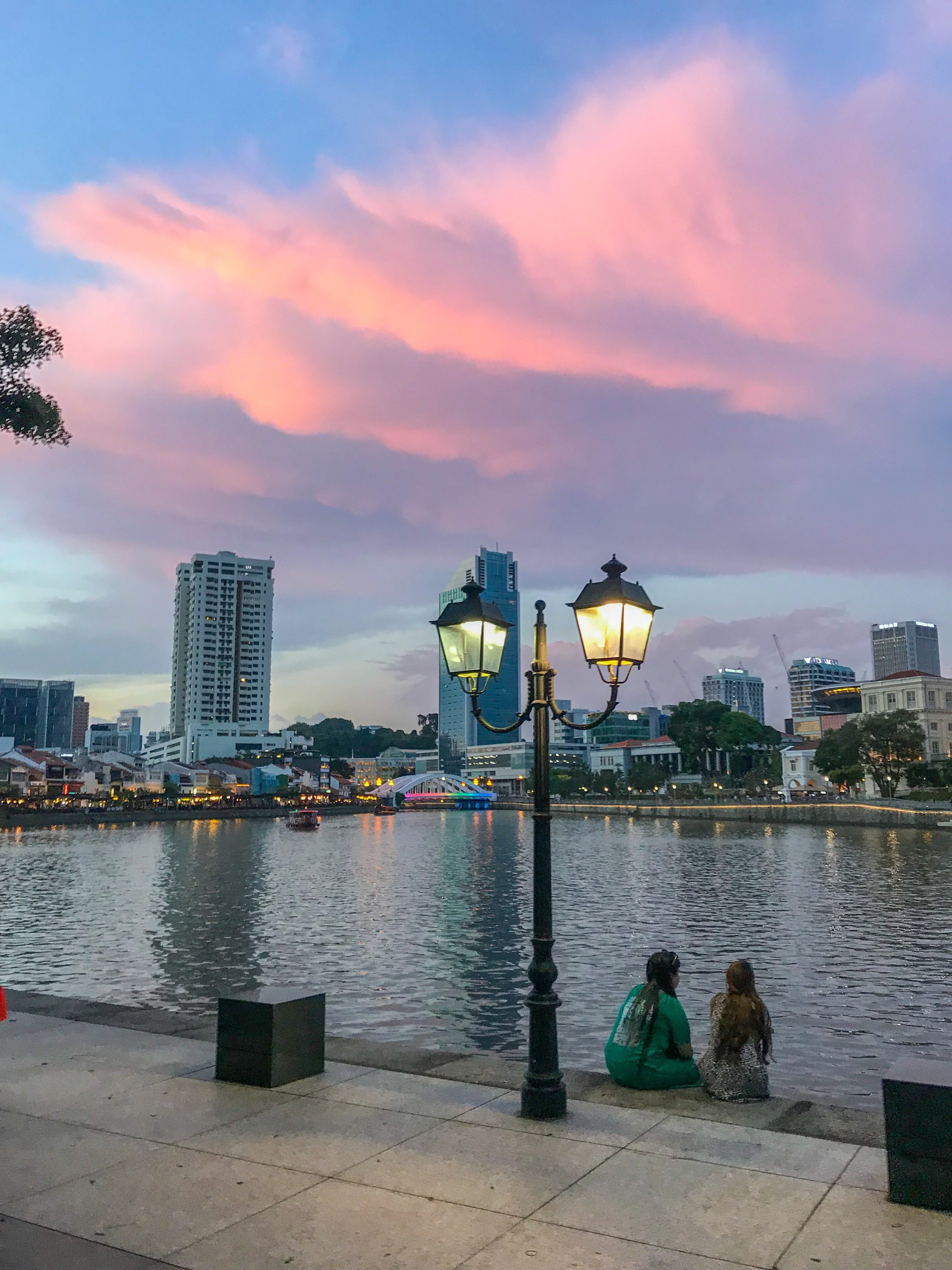 Sunset in Clarke Quay