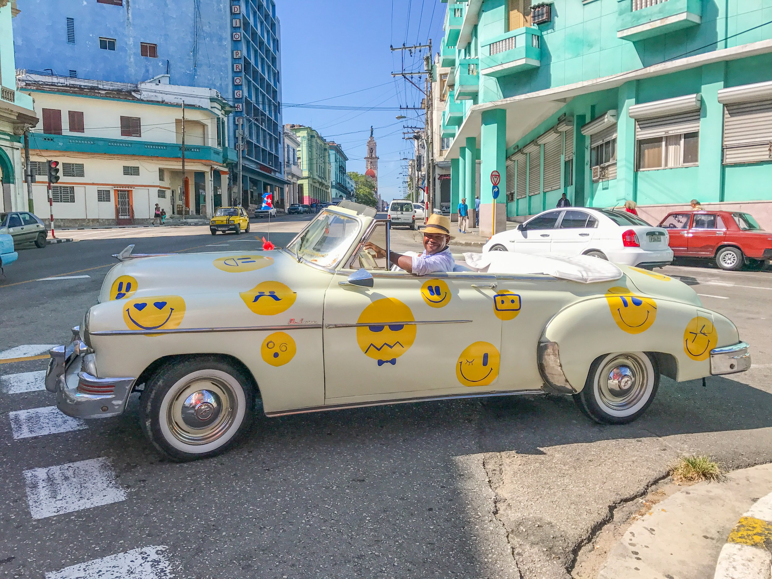 Possibly the happiest car in Cuba!