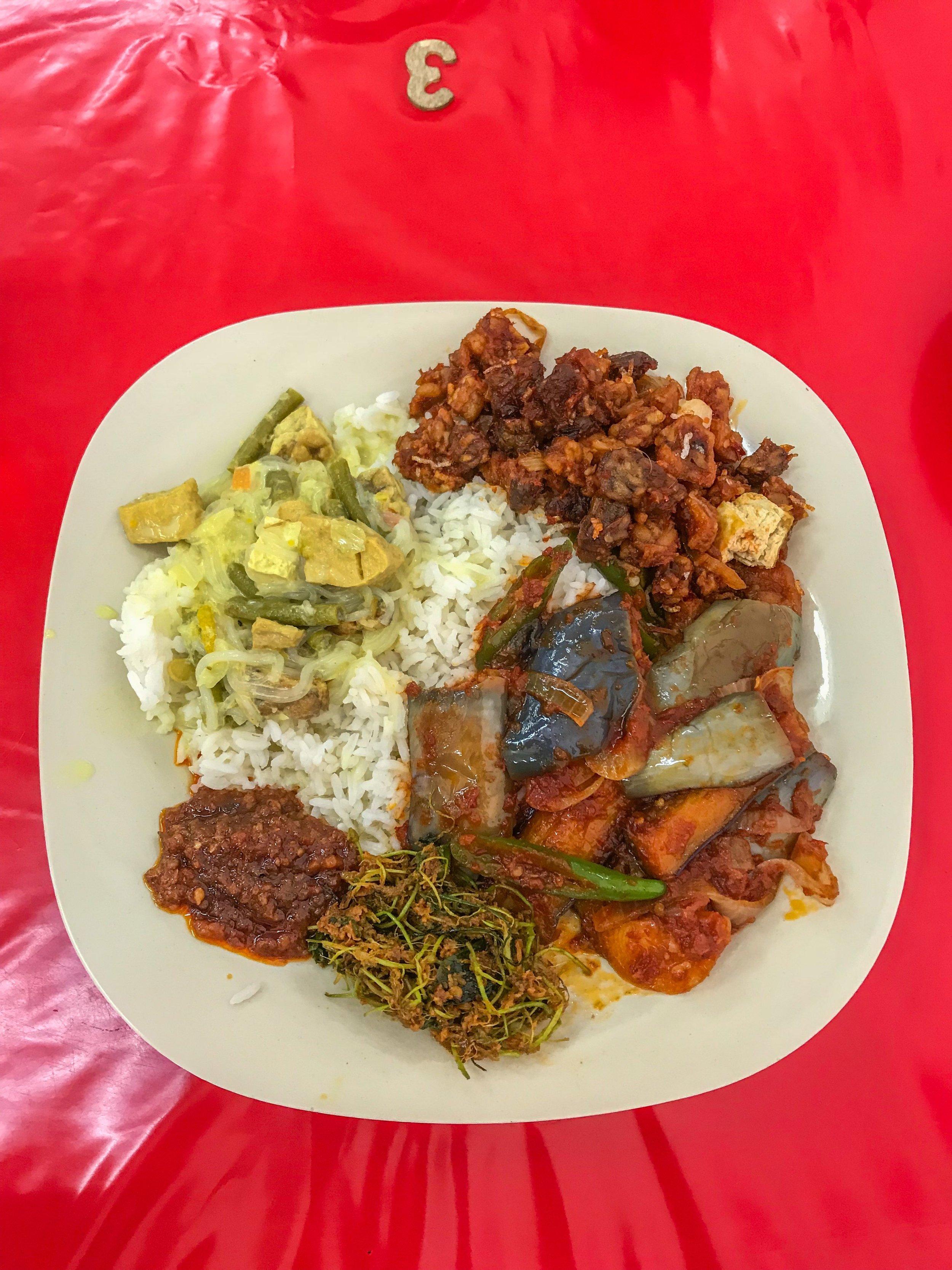 Tempeh and veggies in Johor Bahru