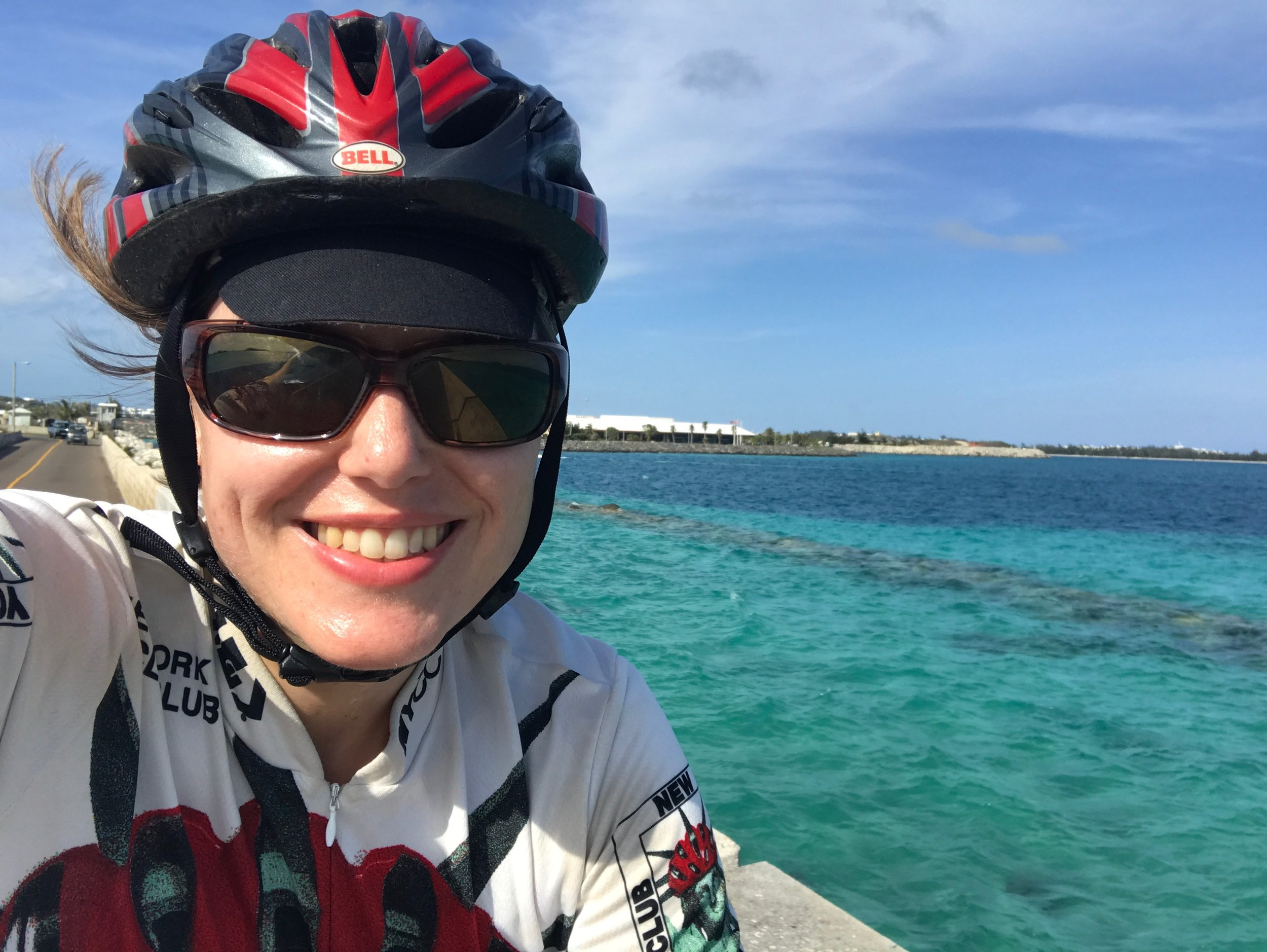 Biking in Bermuda on the trip where I should have bought travel insurance!
