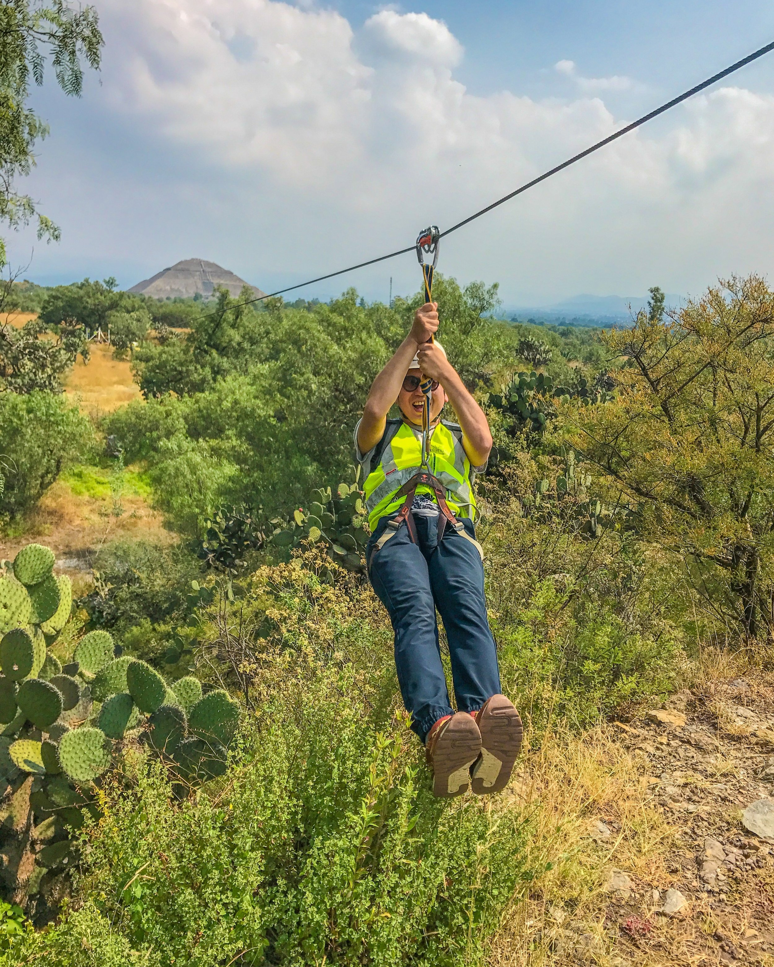 One of my travel-insured clients zip lining in Mexico