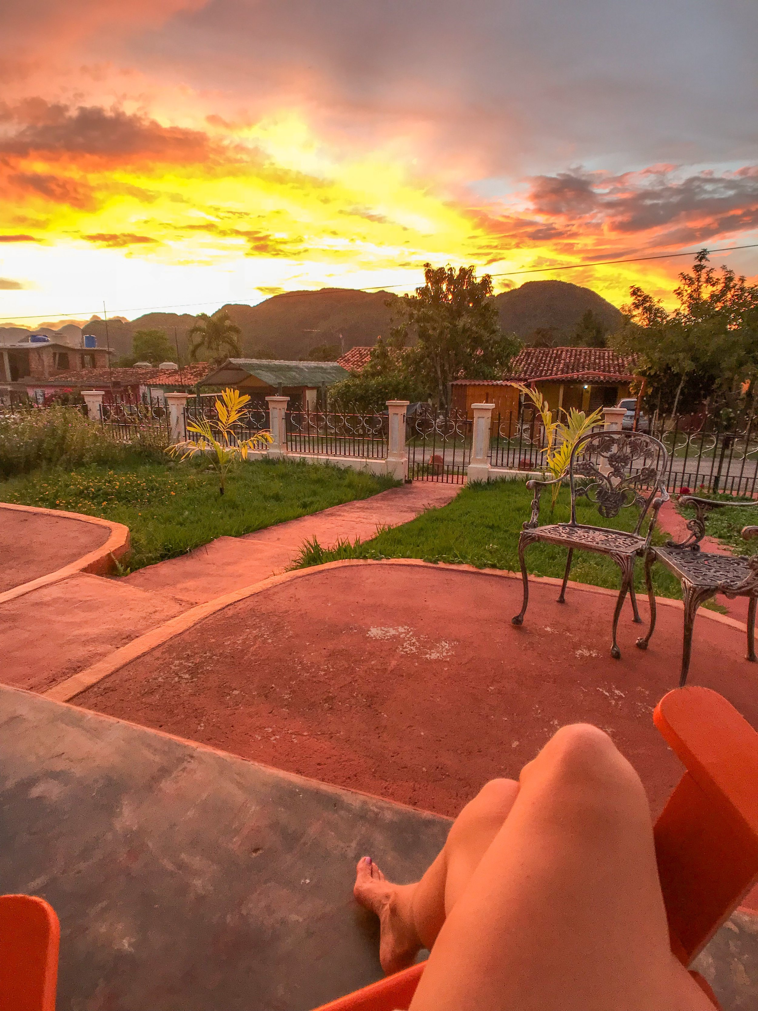 Sunset at a casa I work with in Vinales