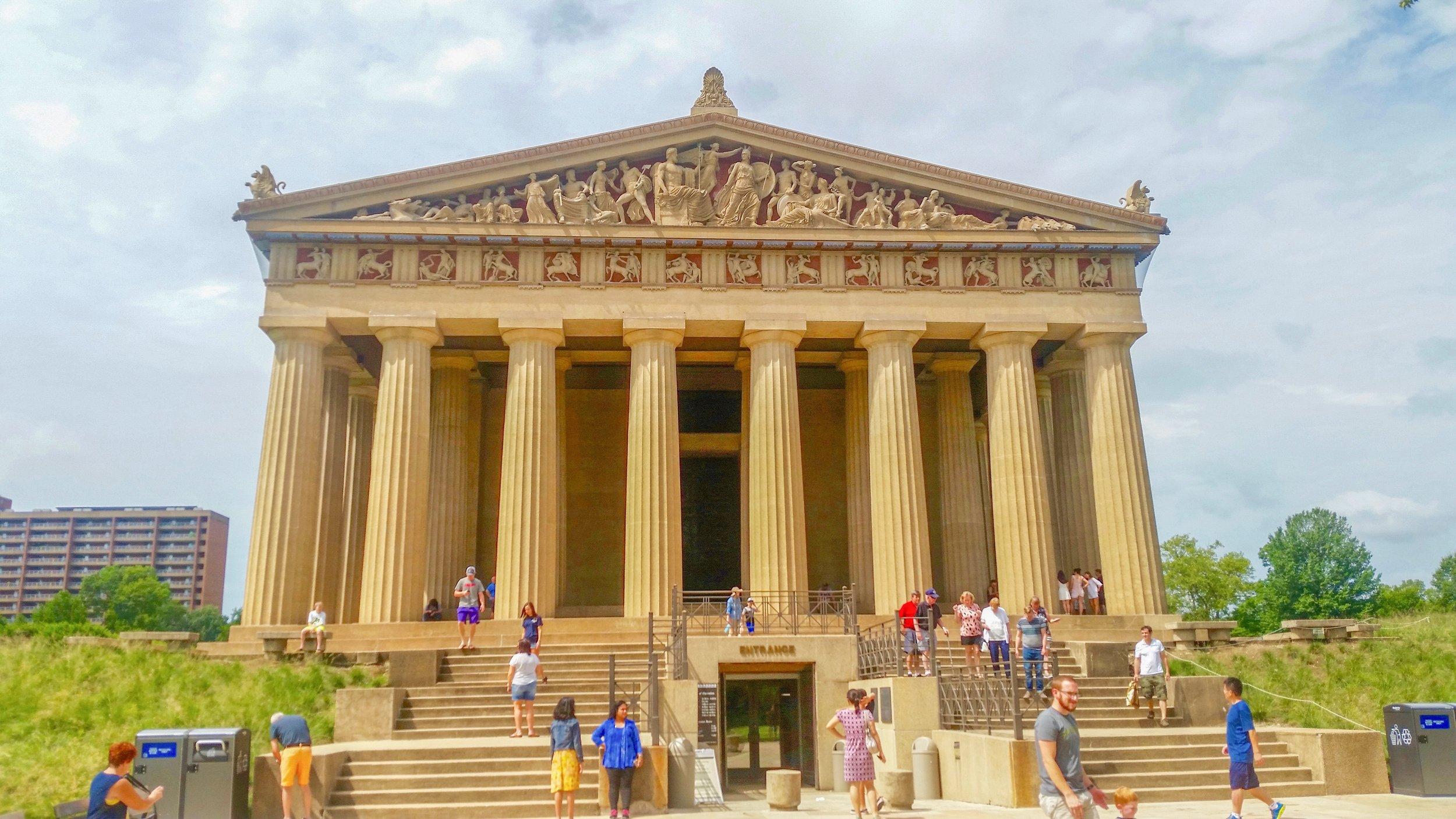 Nashville's Parthenon, a full-scale replica of the Greek masterpiece