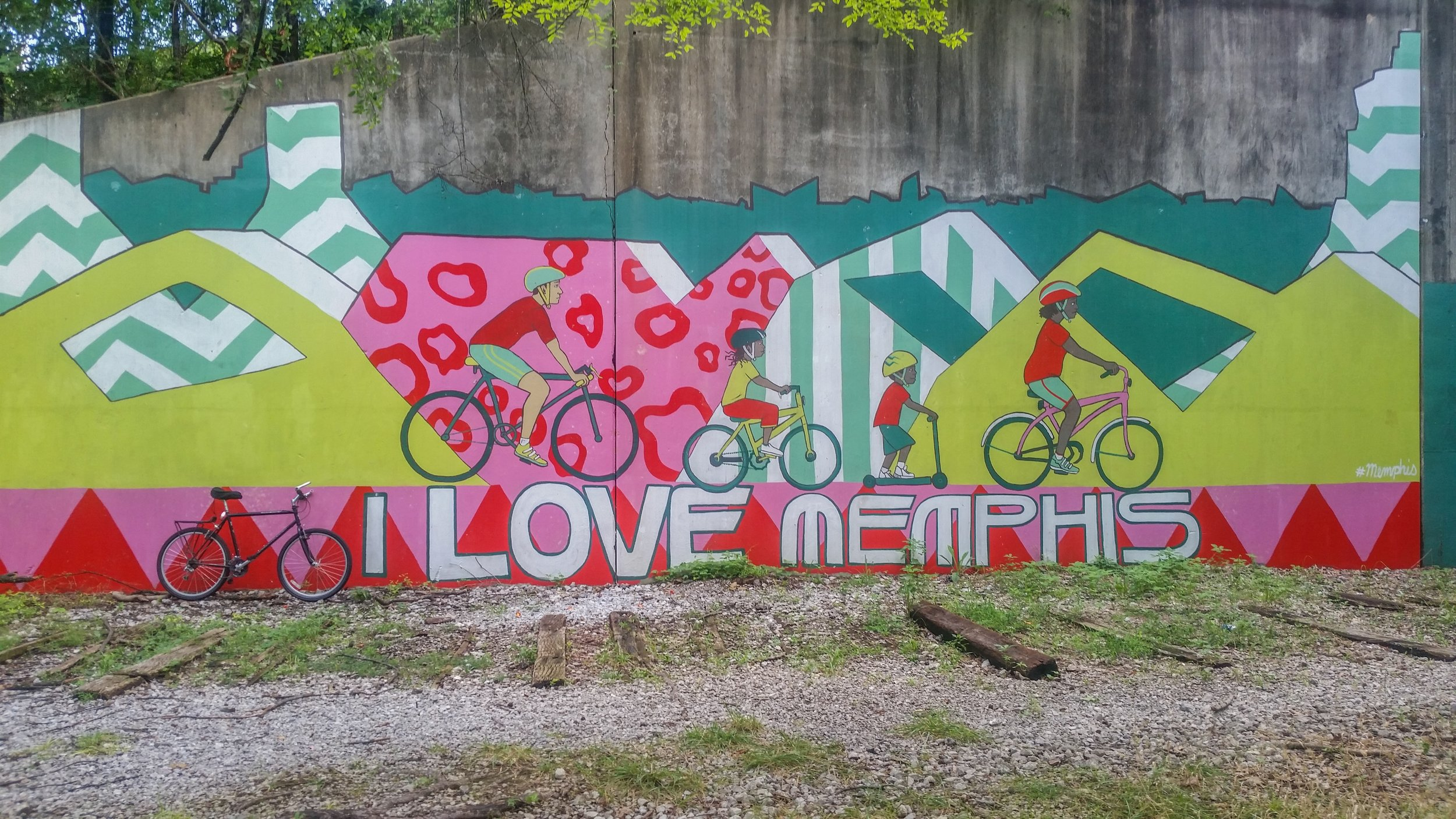 A bike mural I passed while biking through Shelby Farms