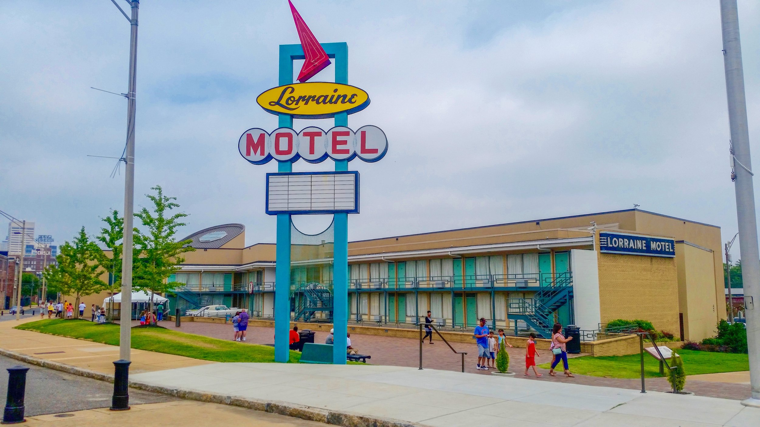 The National Civil Rights Museum is housed within the Lorraine Motel, the city of Martin Luther King Jr's death