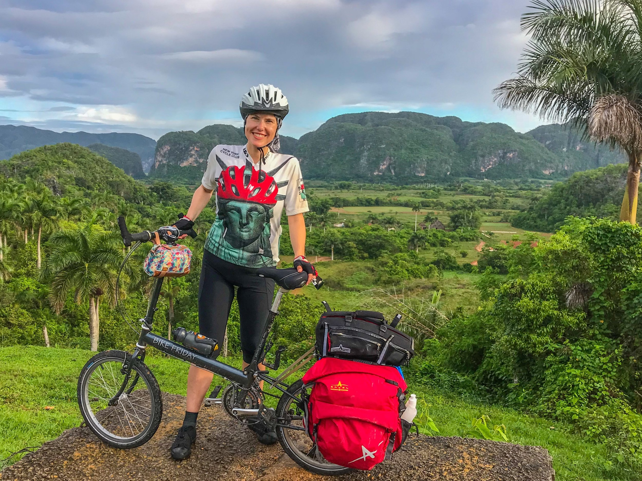 Bike touring through Vinales, Cuba
