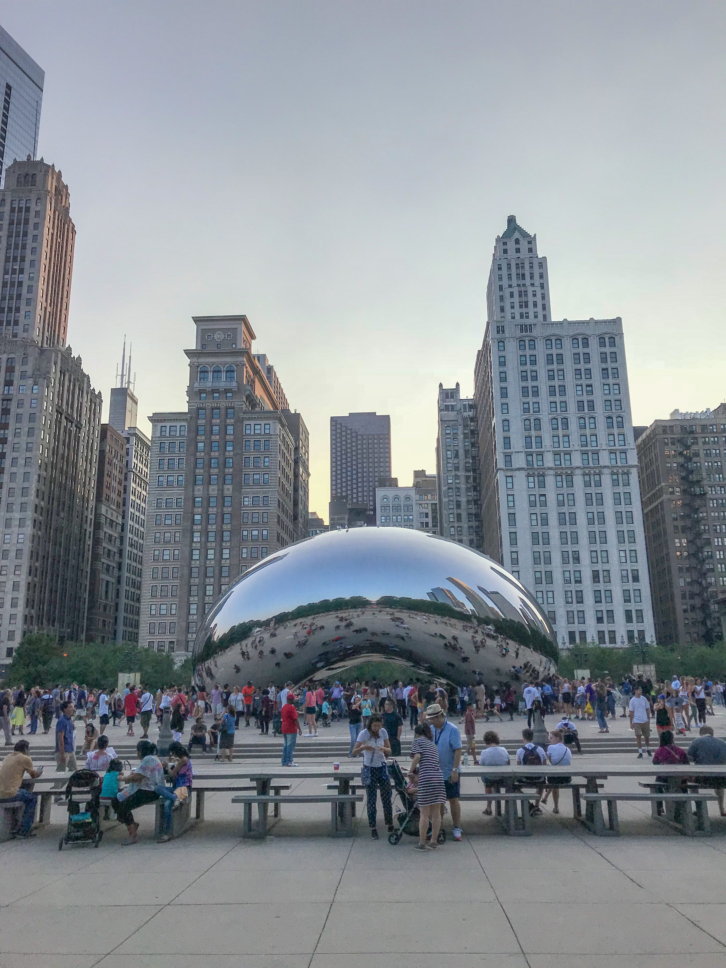 The Chicago Bean is ALWAYS crowded with tourists