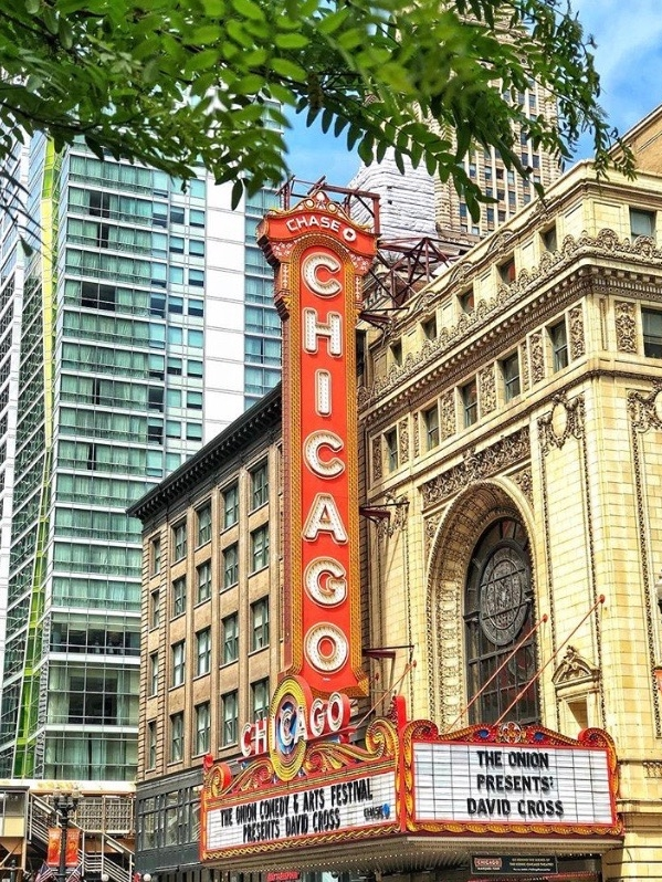 The Chicago Theater is one of the most photographed places in Chicago