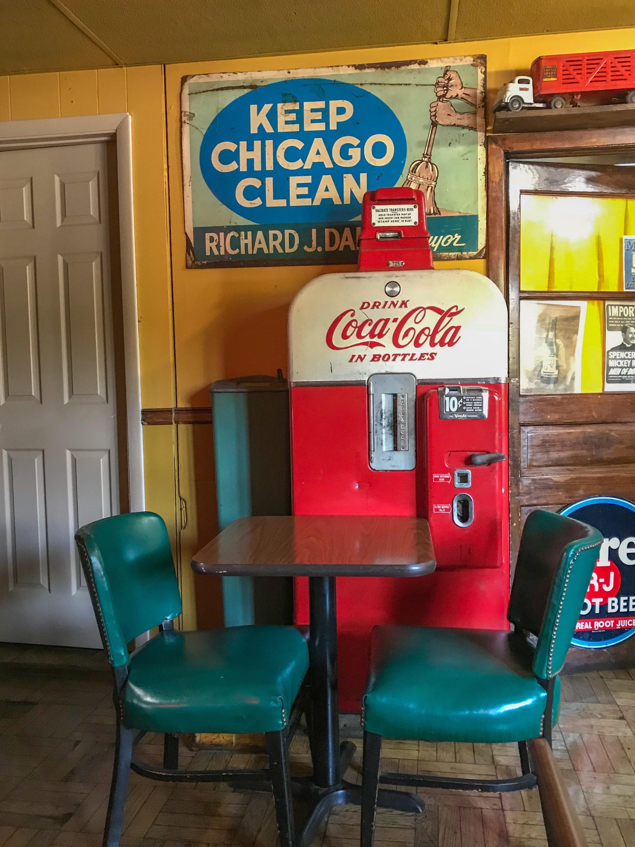 Inside Odge's is an Old-timey Diner