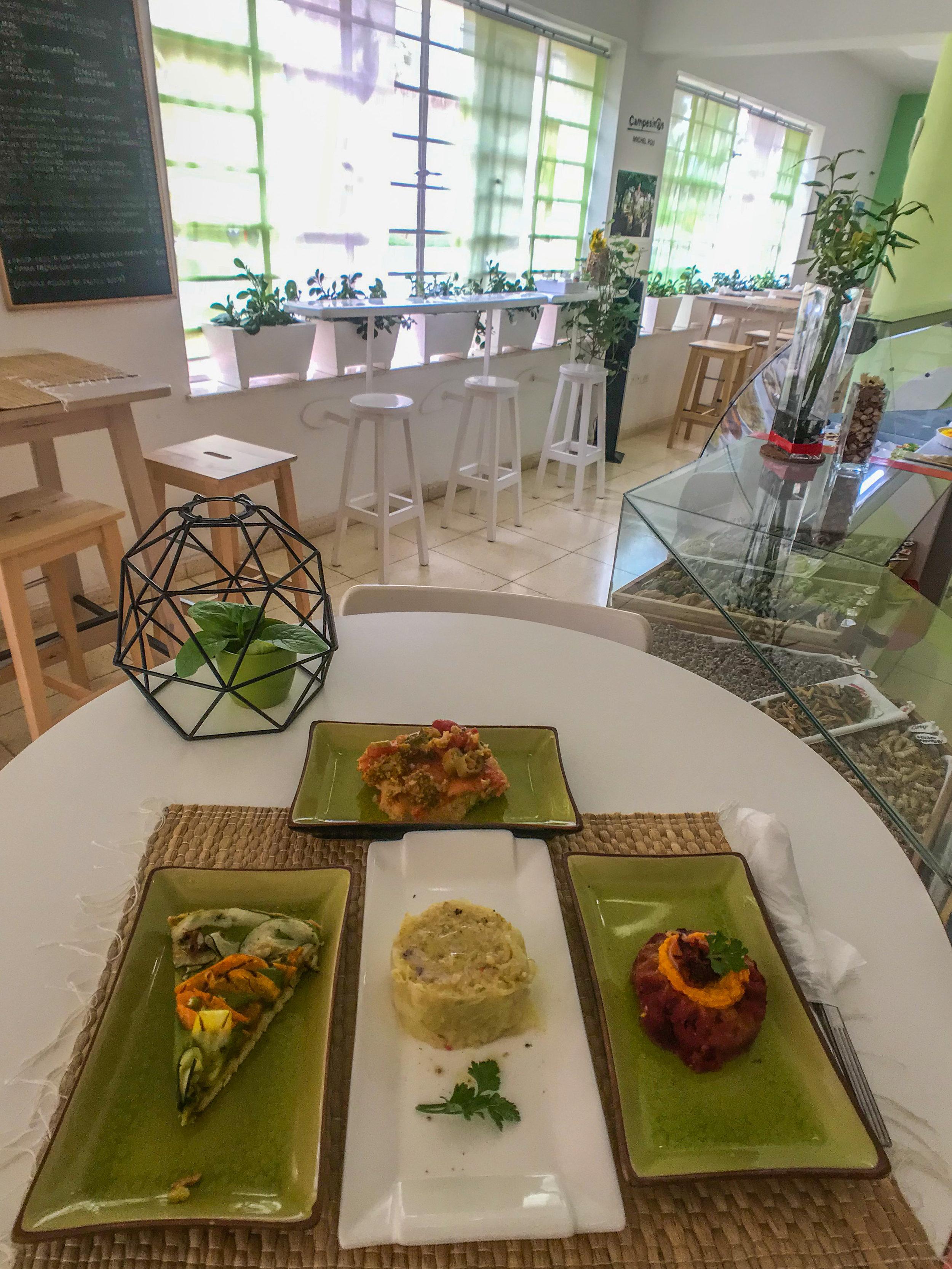 Sustainable vegetarian restaurant in Havana