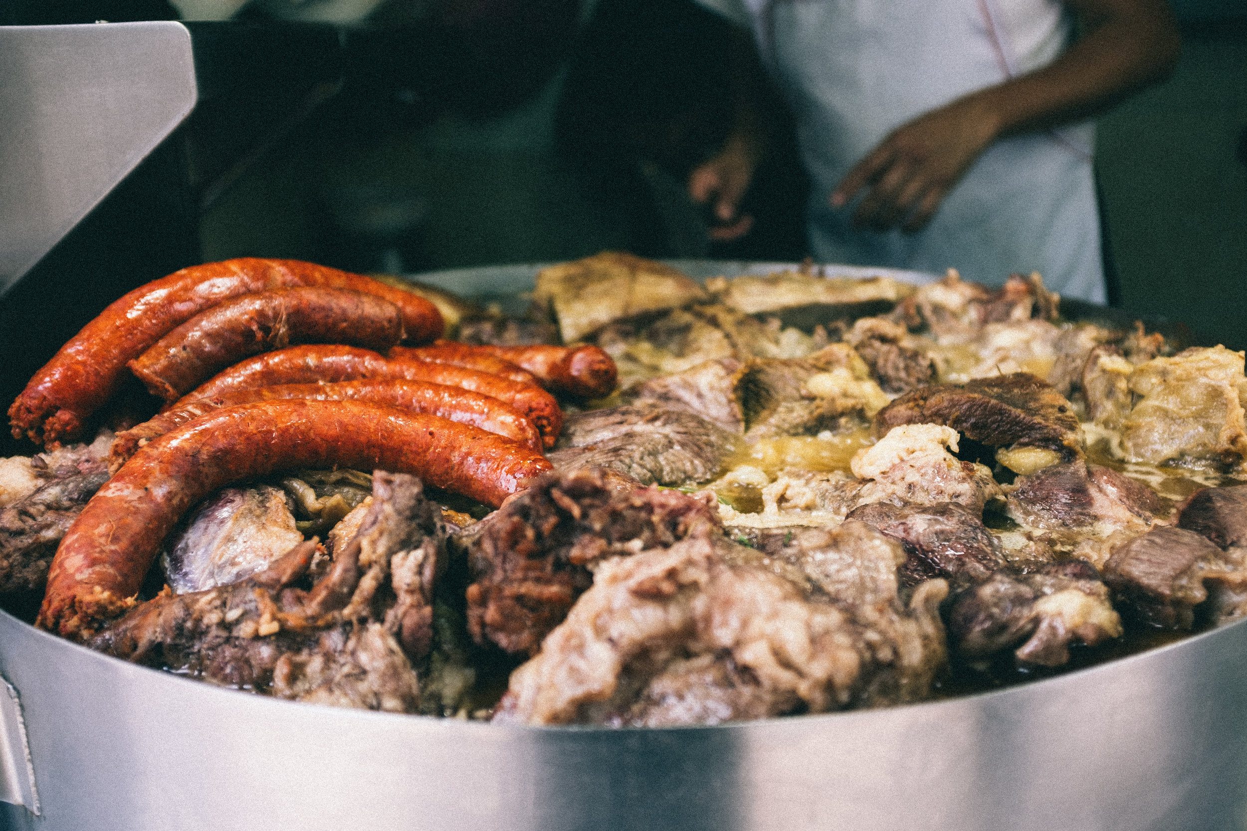 Typical meaty Mexican street food selection