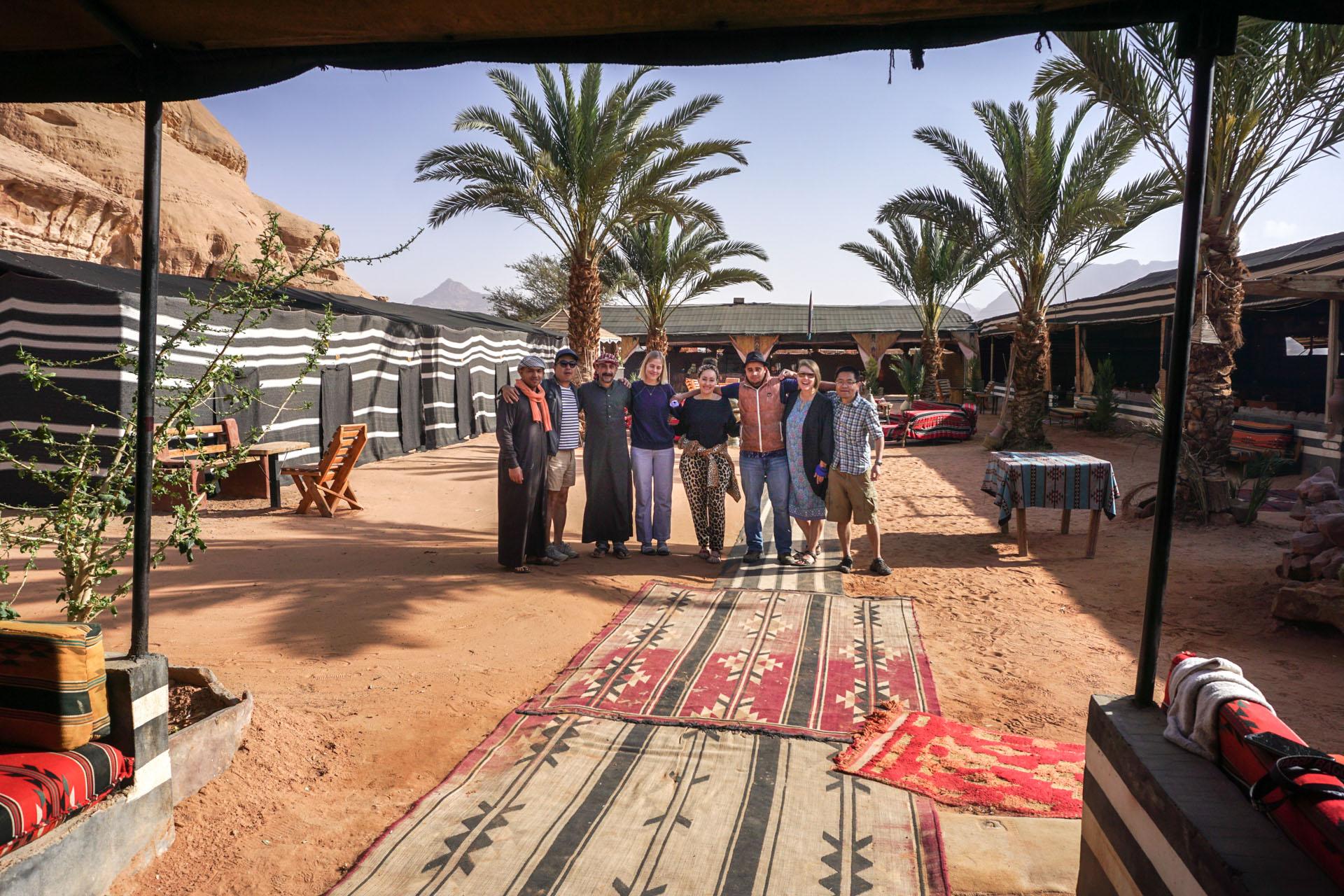 Our desert camp in Wadi Rum