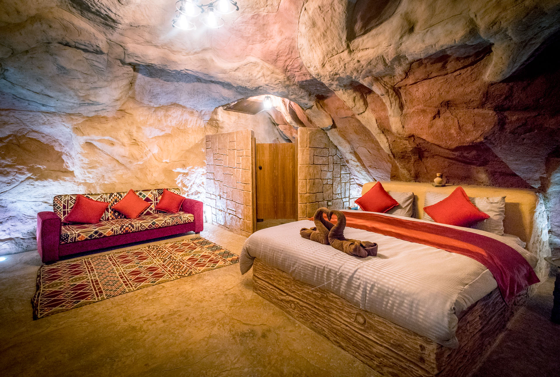"""Deluxe """"cave room"""" upgrade available"""