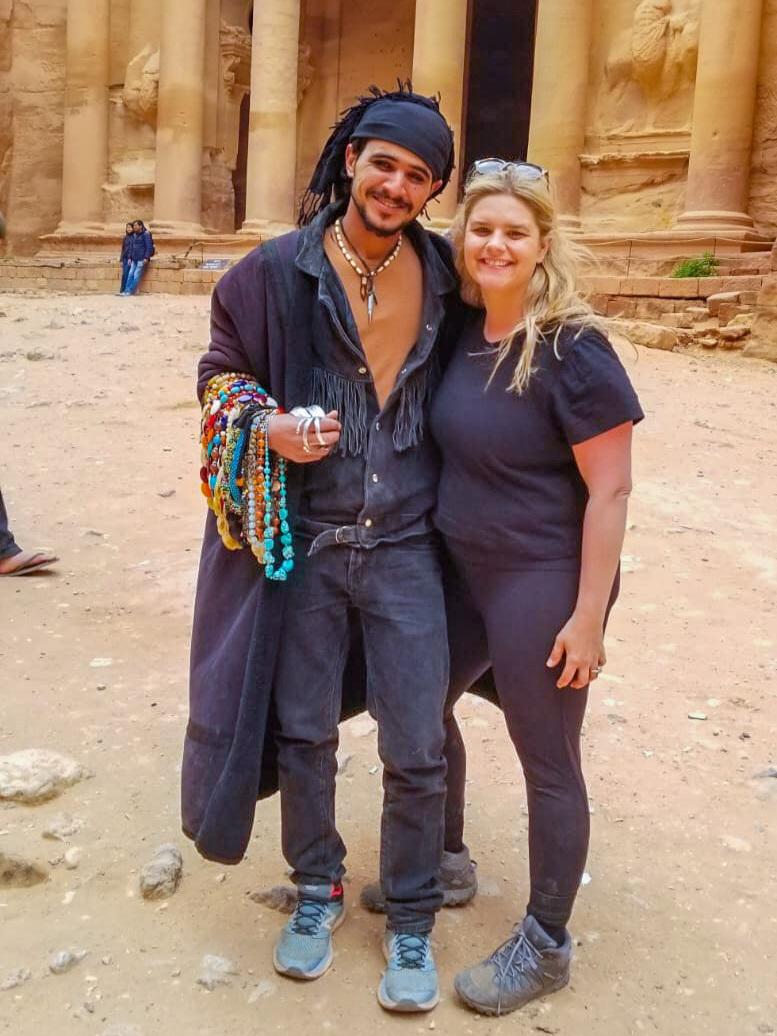 A pirate in Petra - I don't know if he's a good or a bad pirate :)