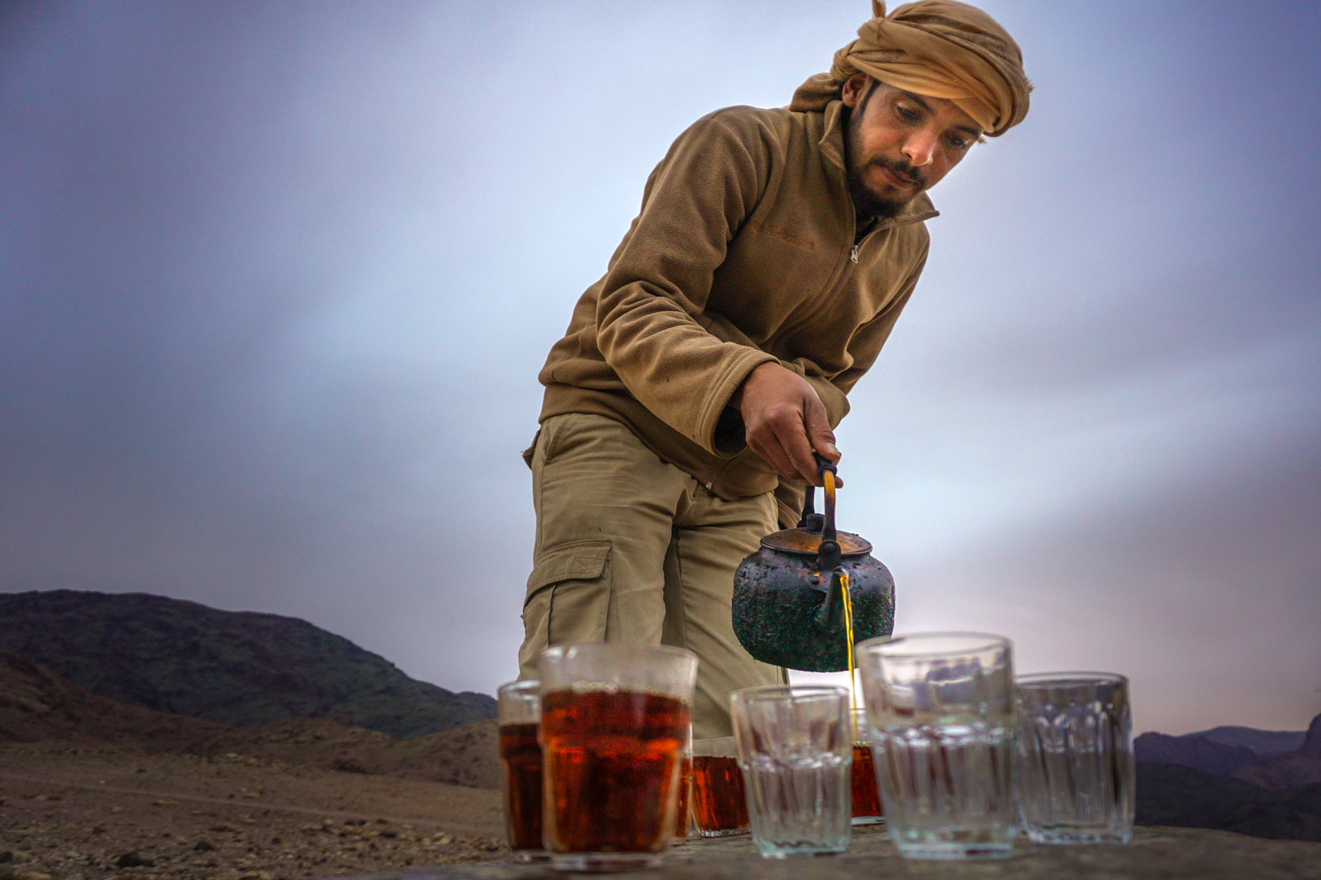 Jordanians are known for their hospitality and often greet travelers with tea