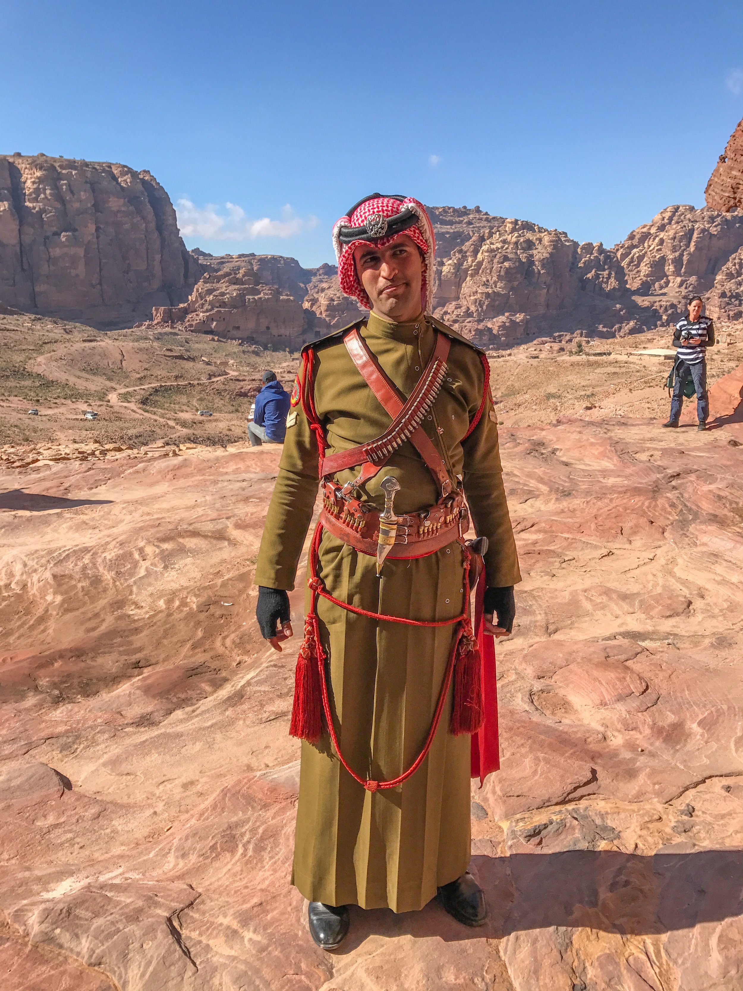 In general, Jordanian military and police can be trusted (though they may not be dressed in traditional uniforms like this)