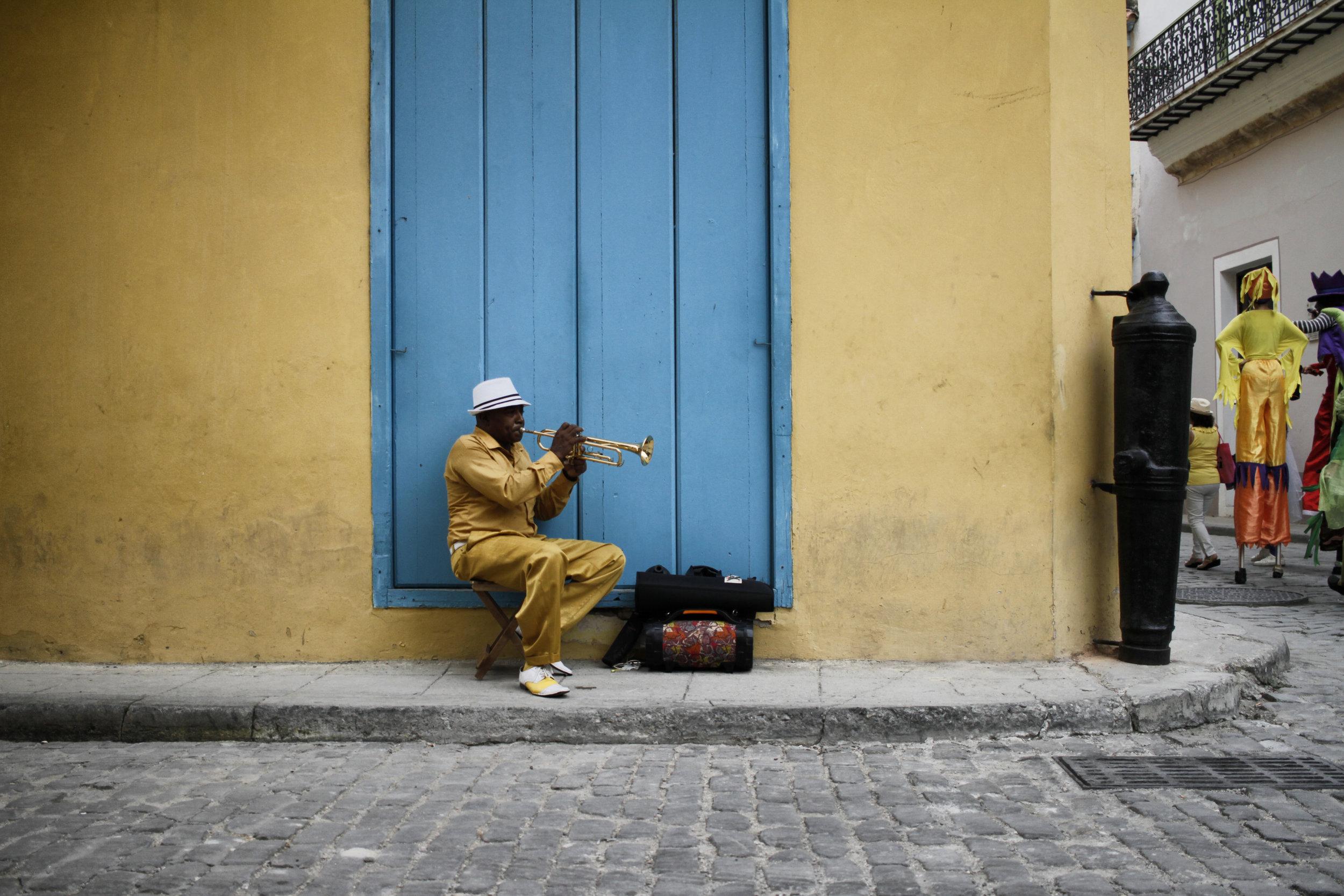 A musician in Old Havana