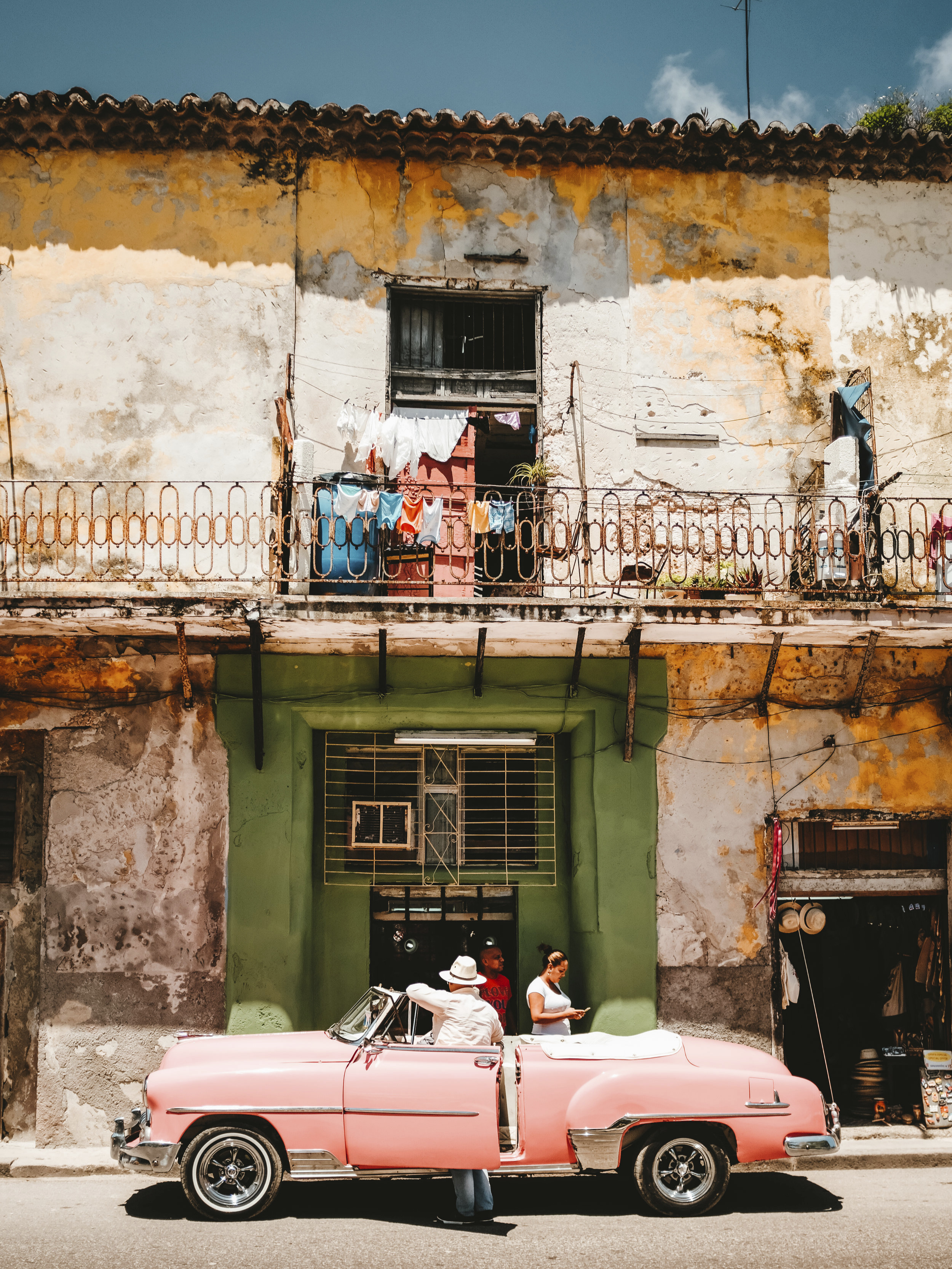 One of Cuba's iconic classic cars