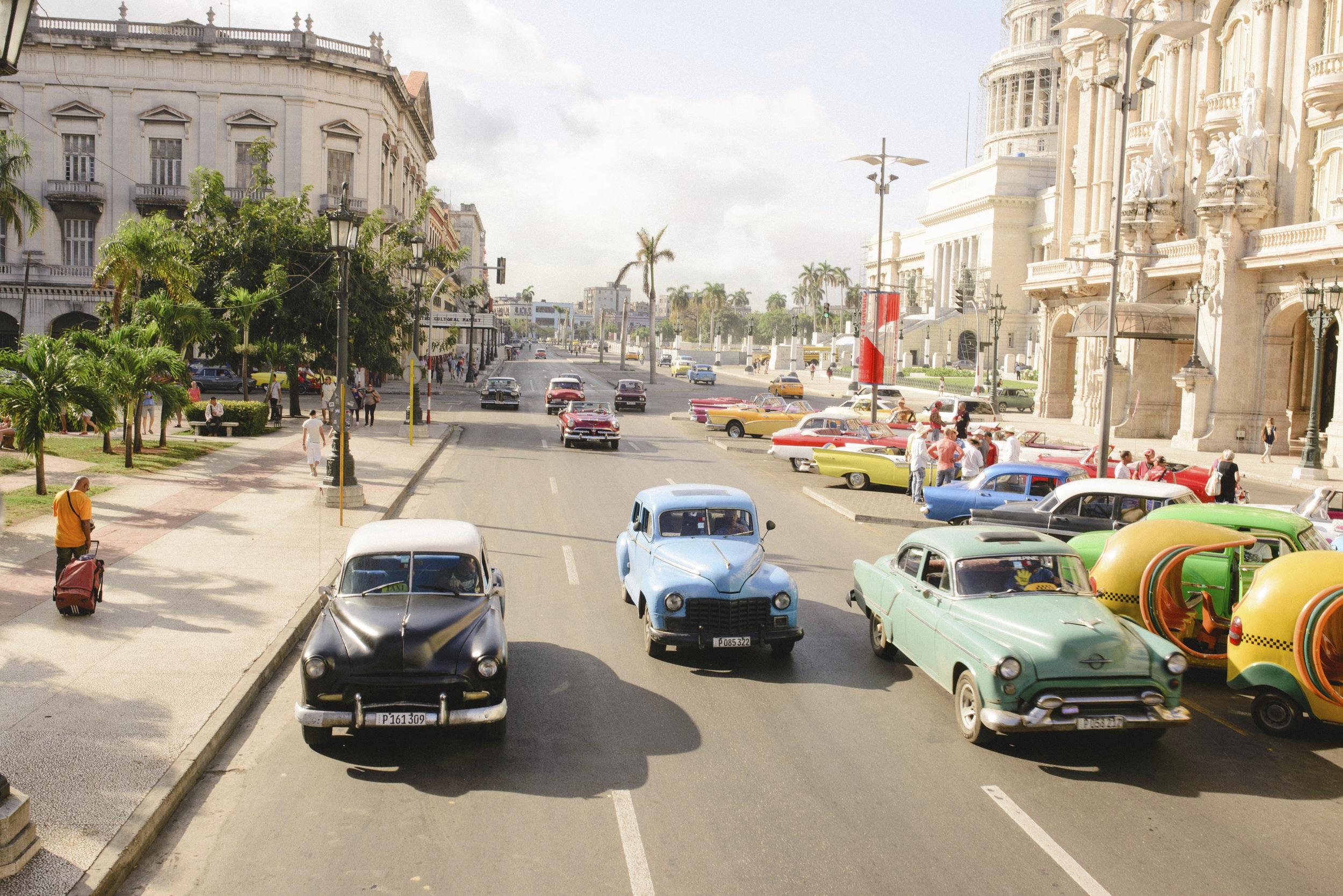 Cuba's iconic classic cars in Old Havana