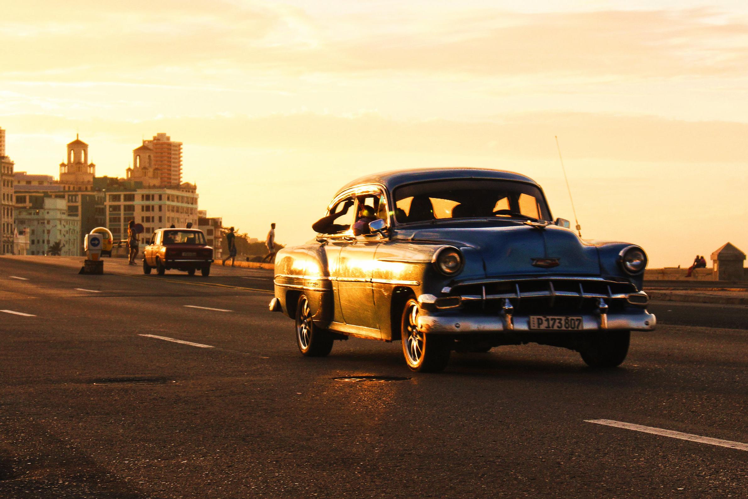 Classic car ride through Havana