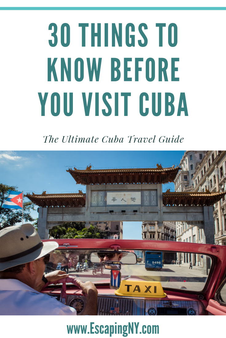 30 Things to Know Before Visiting Cuba