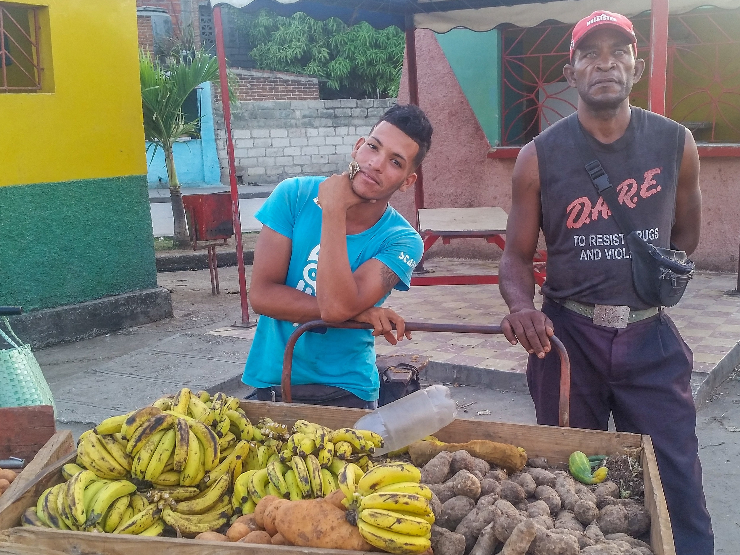 Produce for sale in Bayamo